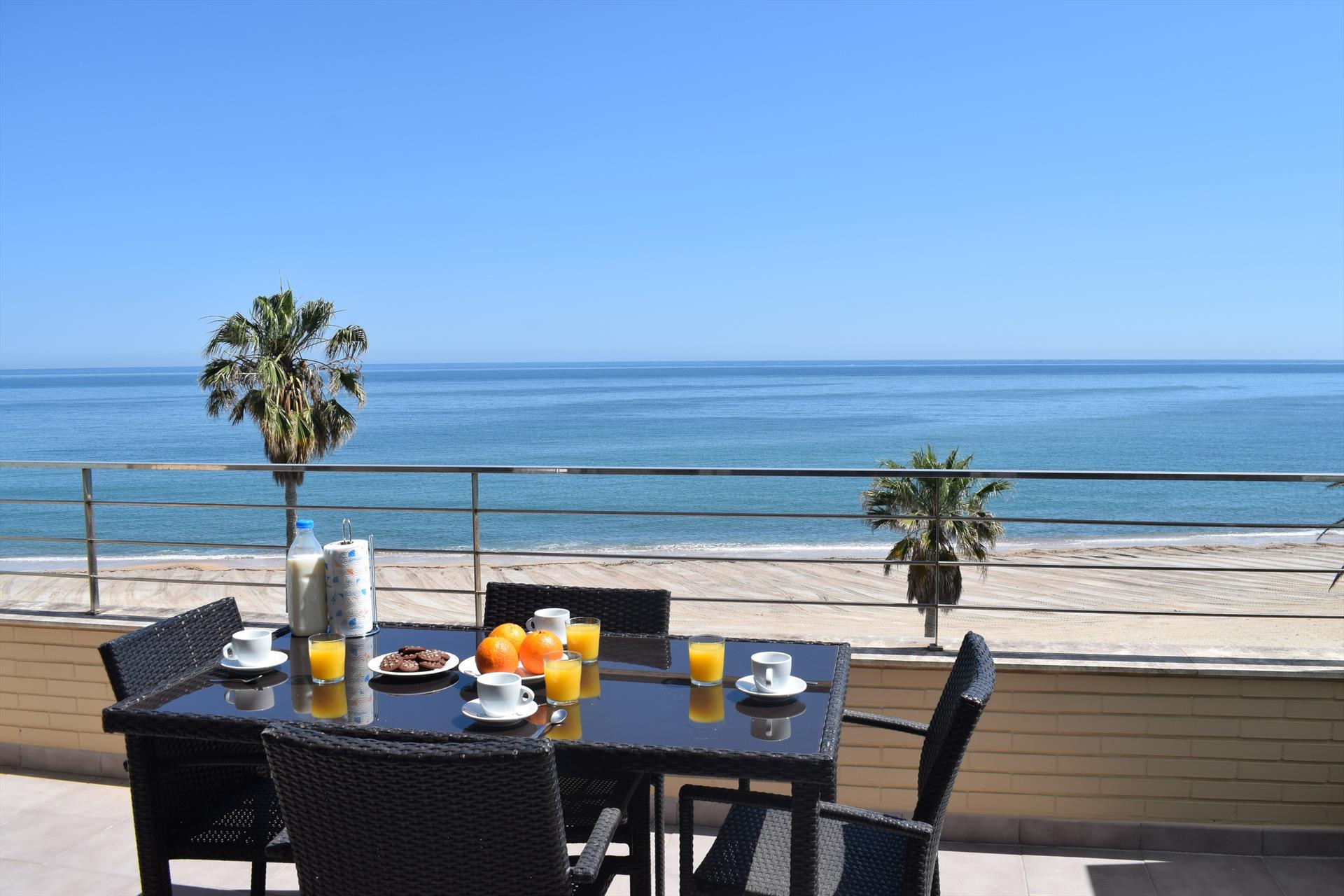 AT1101 Atico frontal al mar urb Marenia, Modern and luxury holiday house in Denia, on the Costa Blanca, Spain  with communal pool for 4 persons.....