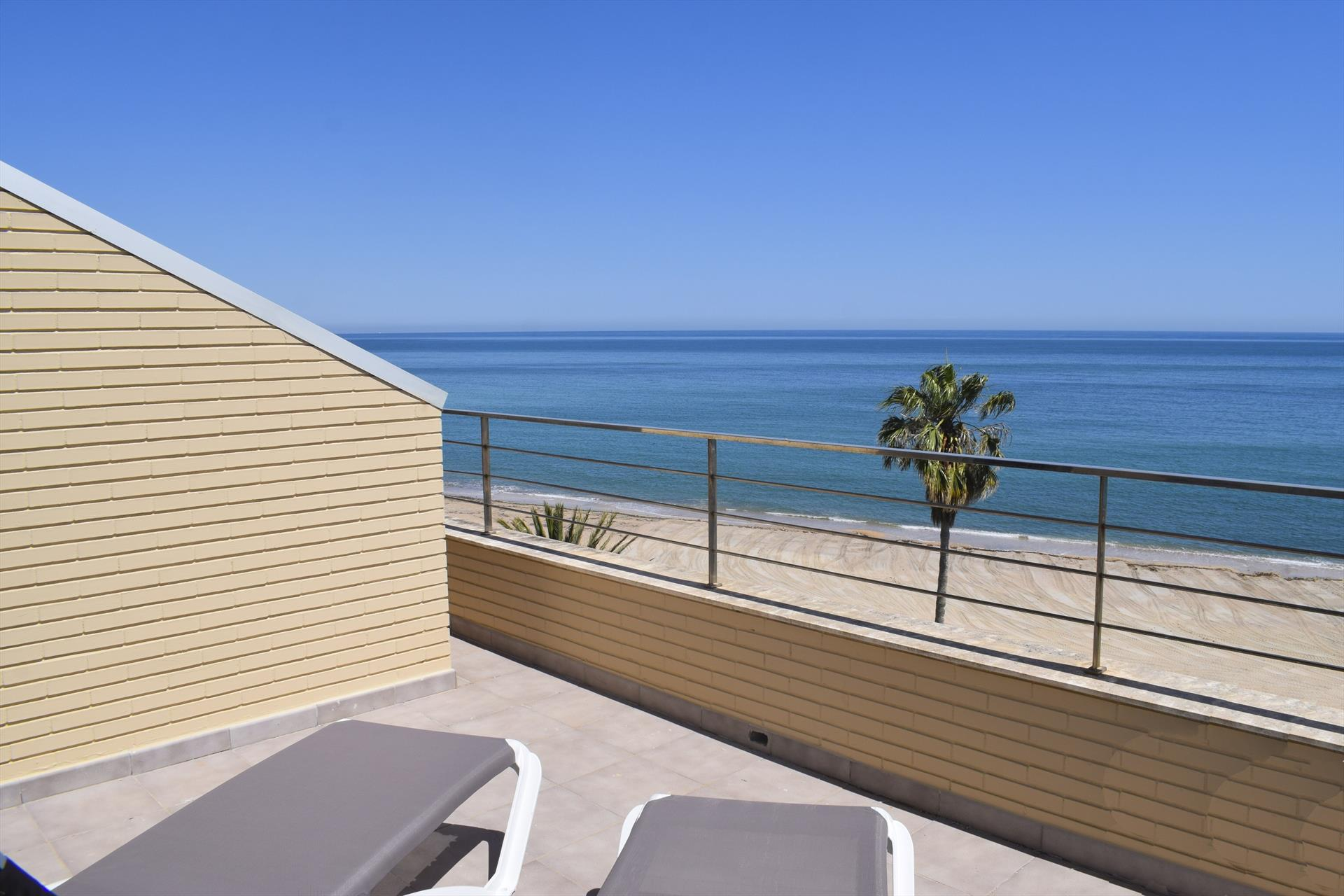 AT1102 Atico  frontal al mar urb Marenia, Modern and luxury holiday house in Denia, on the Costa Blanca, Spain  with communal pool for 4 persons.....