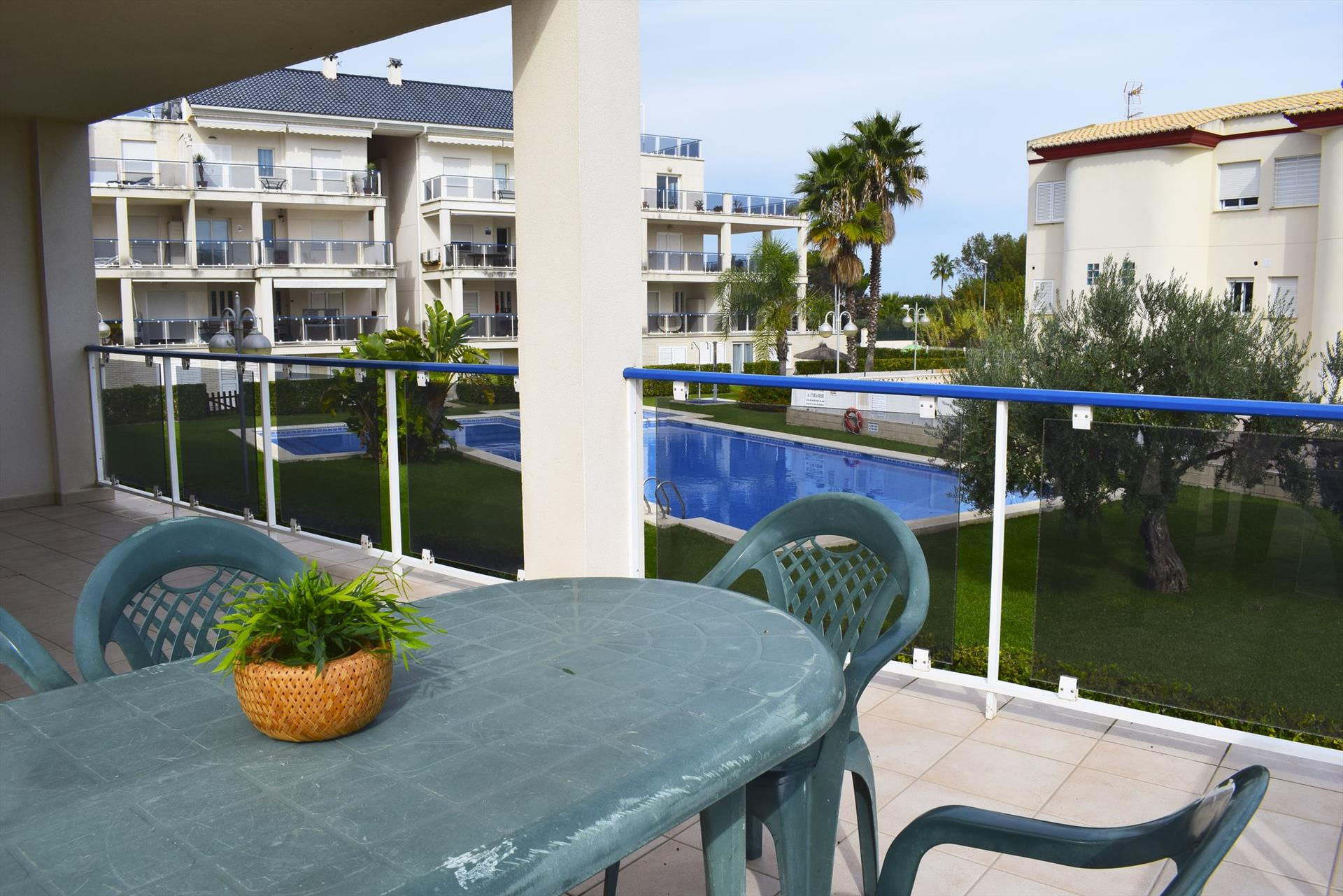 DUP3014 Vora Golf II Playa Rabdells, Beautiful and comfortable apartment in Oliva, on the Costa Blanca, Spain  with communal pool for 6 persons.....