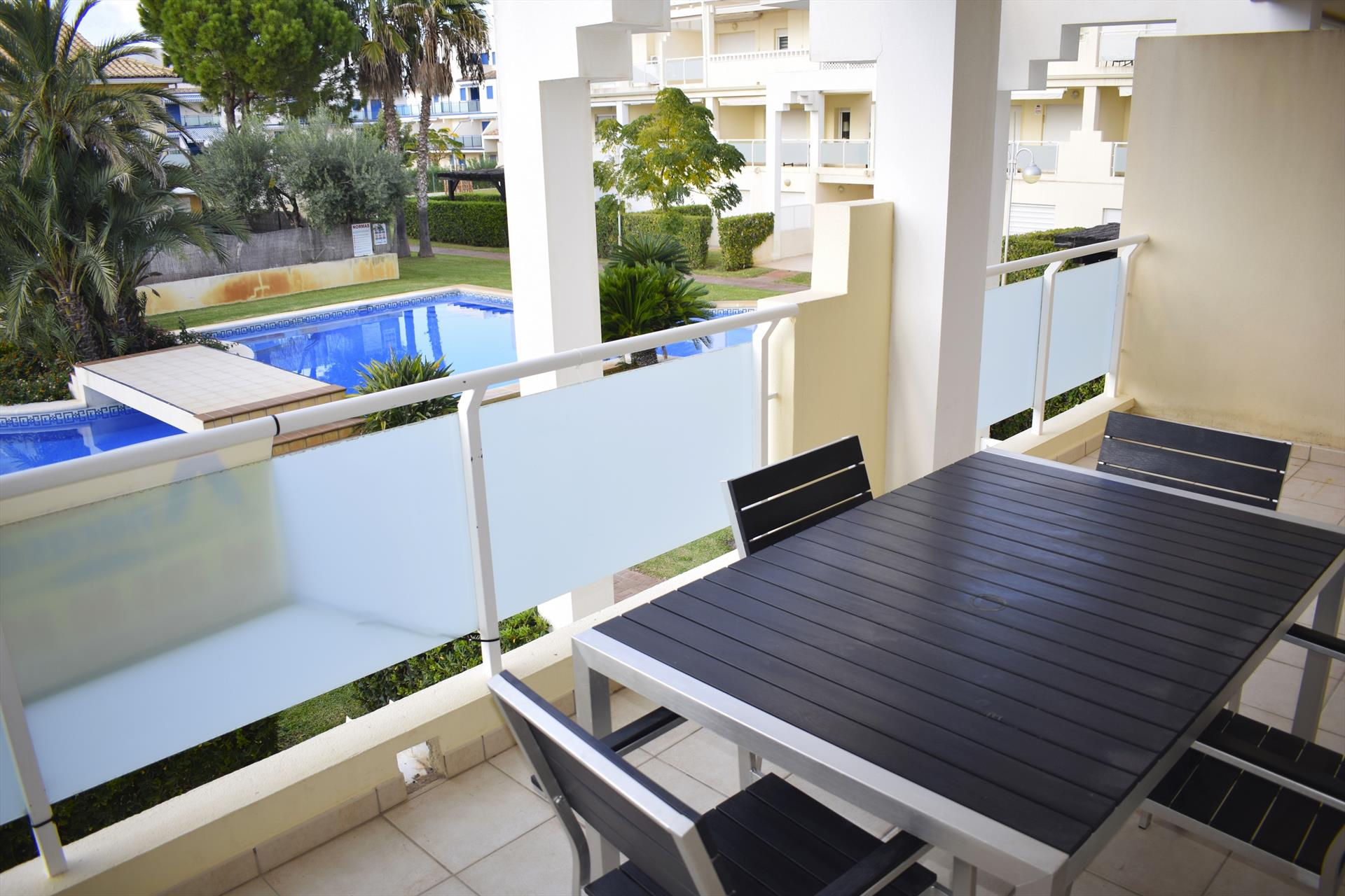 DUP3027 Playa Rabdells, Large and luxury apartment in Oliva, on the Costa Blanca, Spain  with communal pool for 6 persons.....