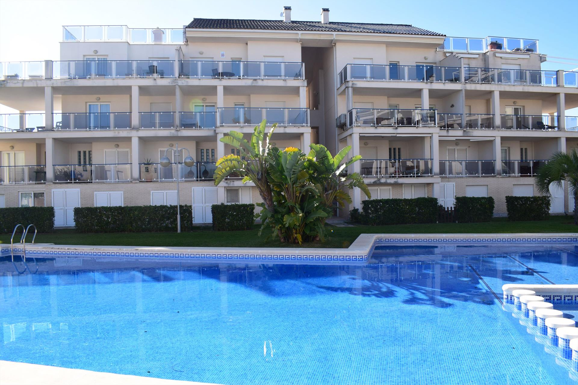 AP499, Large and nice apartment  with communal pool in Oliva, on the Costa Blanca, Spain for 6 persons.....