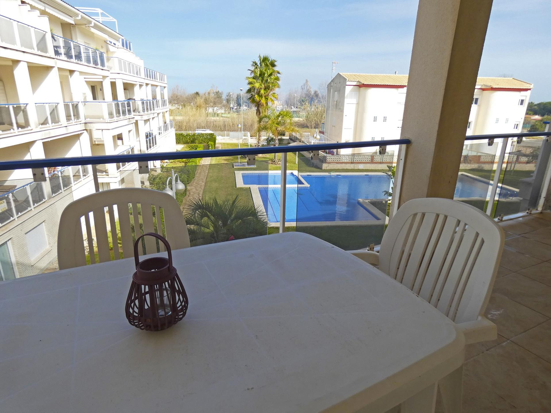 AP437 Vora Golf II Playa Rabdells, Wonderful and cheerful apartment in Oliva, on the Costa Blanca, Spain  with communal pool for 4 persons.....