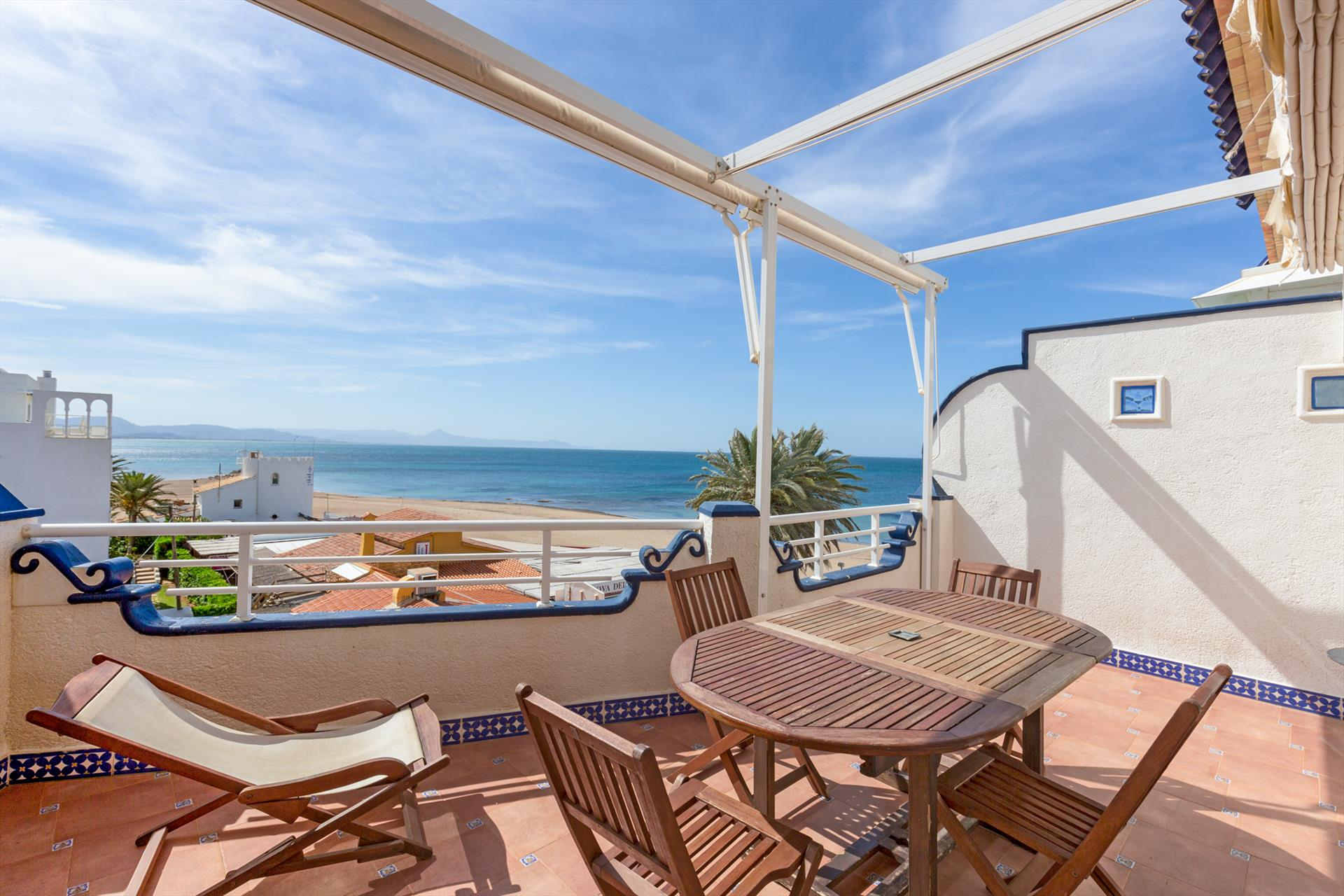 AT2201  Atico Mar Roja Medina Molins, Wonderful and cheerful holiday house in Denia, on the Costa Blanca, Spain  with communal pool for 6 persons.....