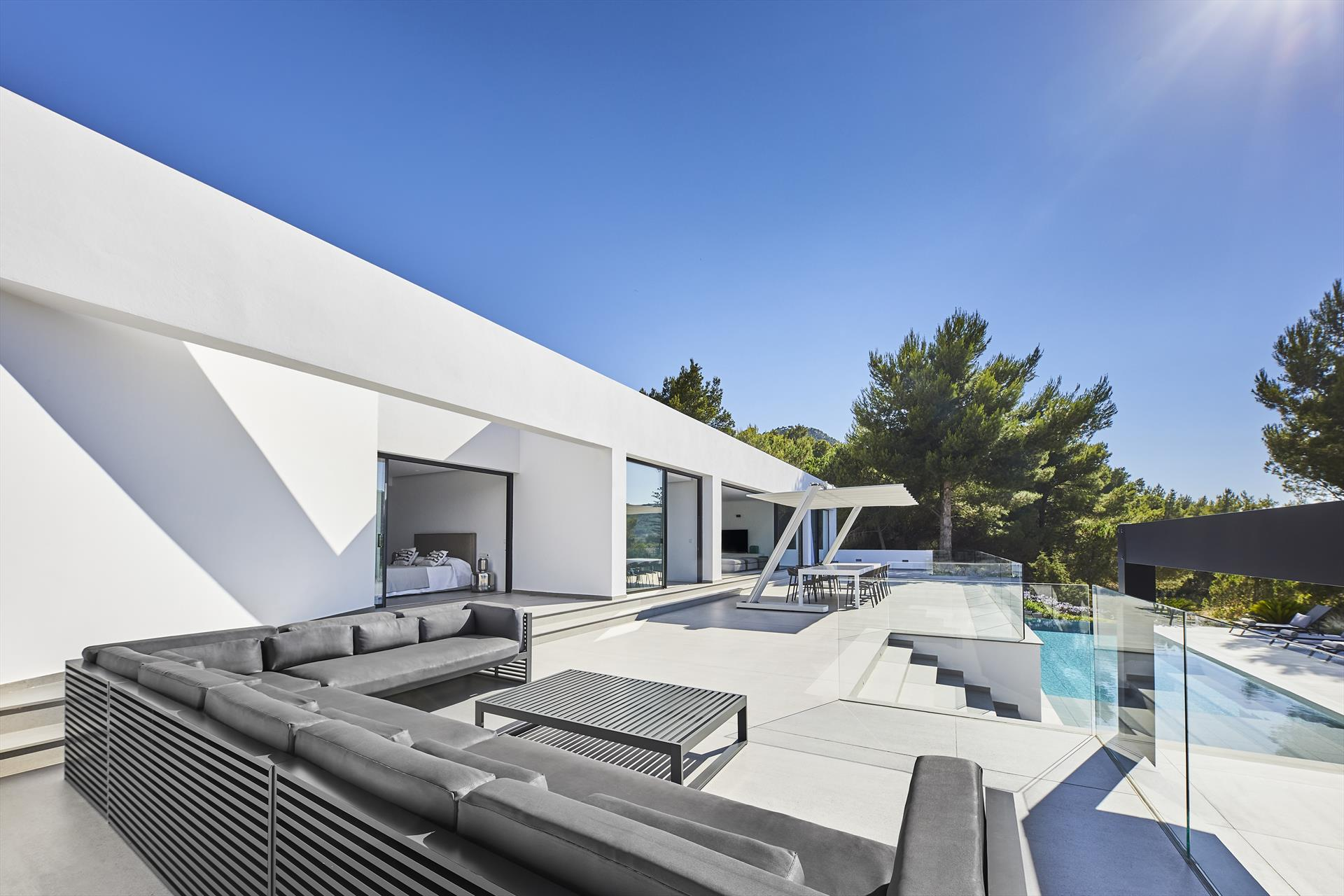 Amaya, Modern and comfortable villa in San Jose, Ibiza, Spain  with private pool for 10 persons...