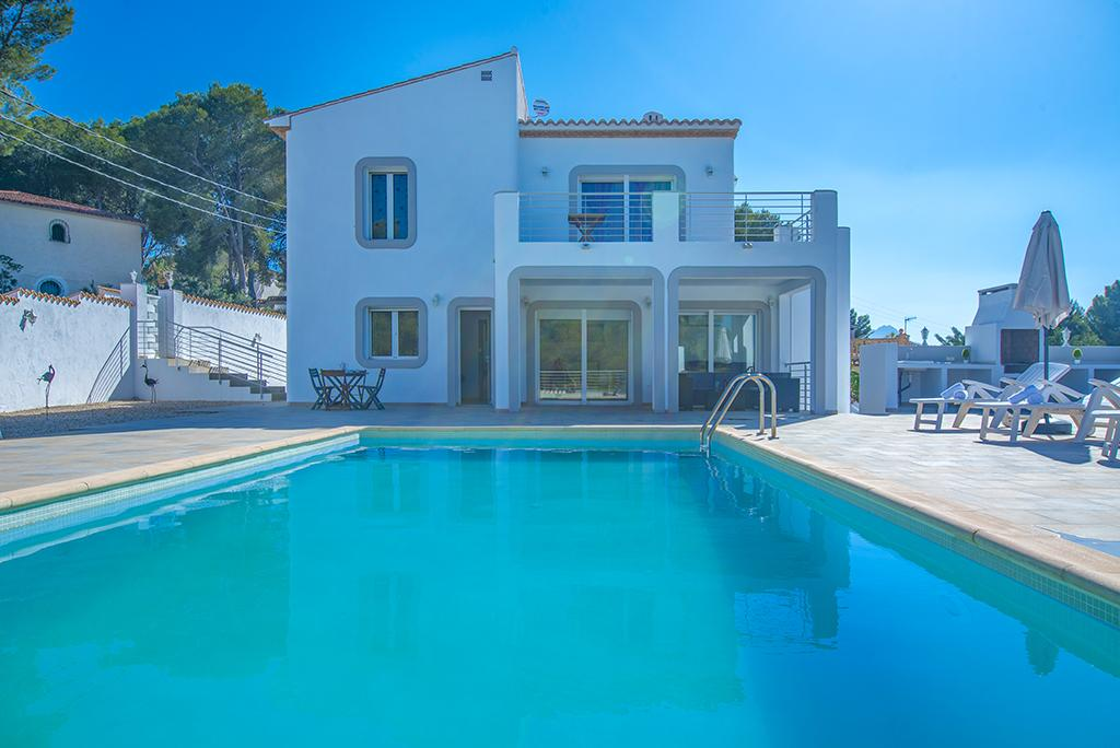 Cabo Salou 12 o 13, Villa in Moraira, on the Costa Blanca, Spain  with private pool for 13 persons.....