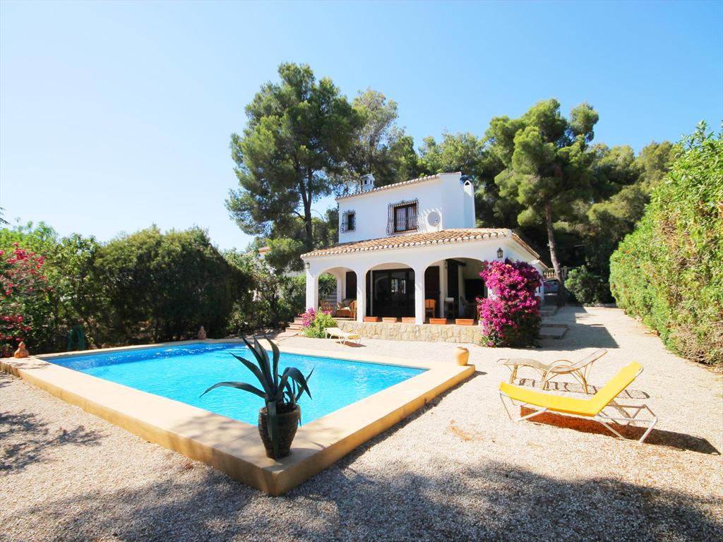 PERRET, Rustic and nice villa in Javea, on the Costa Blanca, Spain  with private pool for 8 persons.....