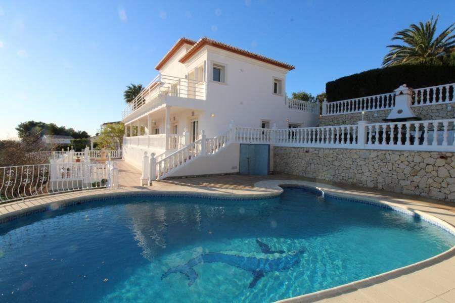 Villa Monteverdi, Large and comfortable villa  with private pool in Javea, on the Costa Blanca, Spain for 8 persons.....