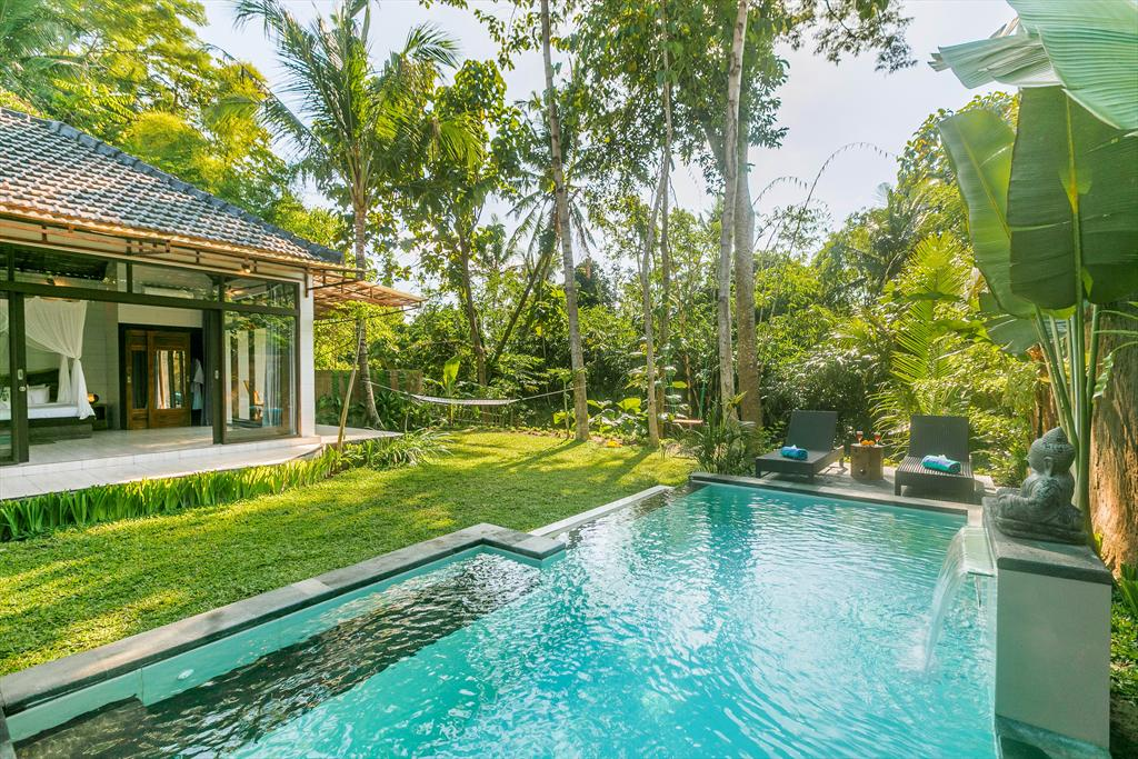 Kasava 1 1BR, Beautiful and cheerful villa  with private pool in Ubud, Bali, Indonesia for 2 persons...