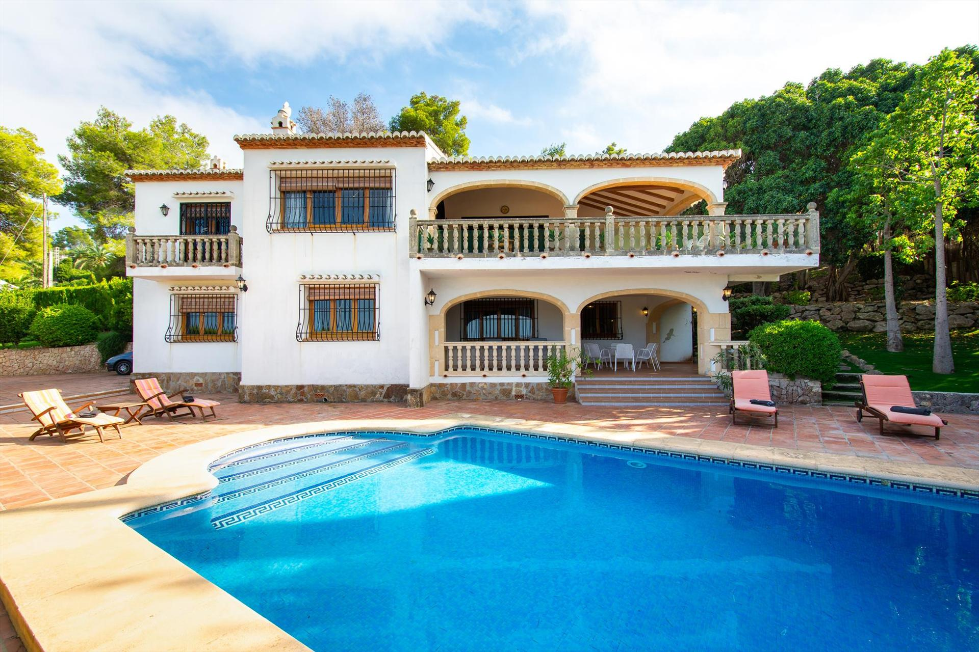 Laurel 8 pax, Large and nice holiday home in Javea, on the Costa Blanca, Spain  with private pool for 8 persons...