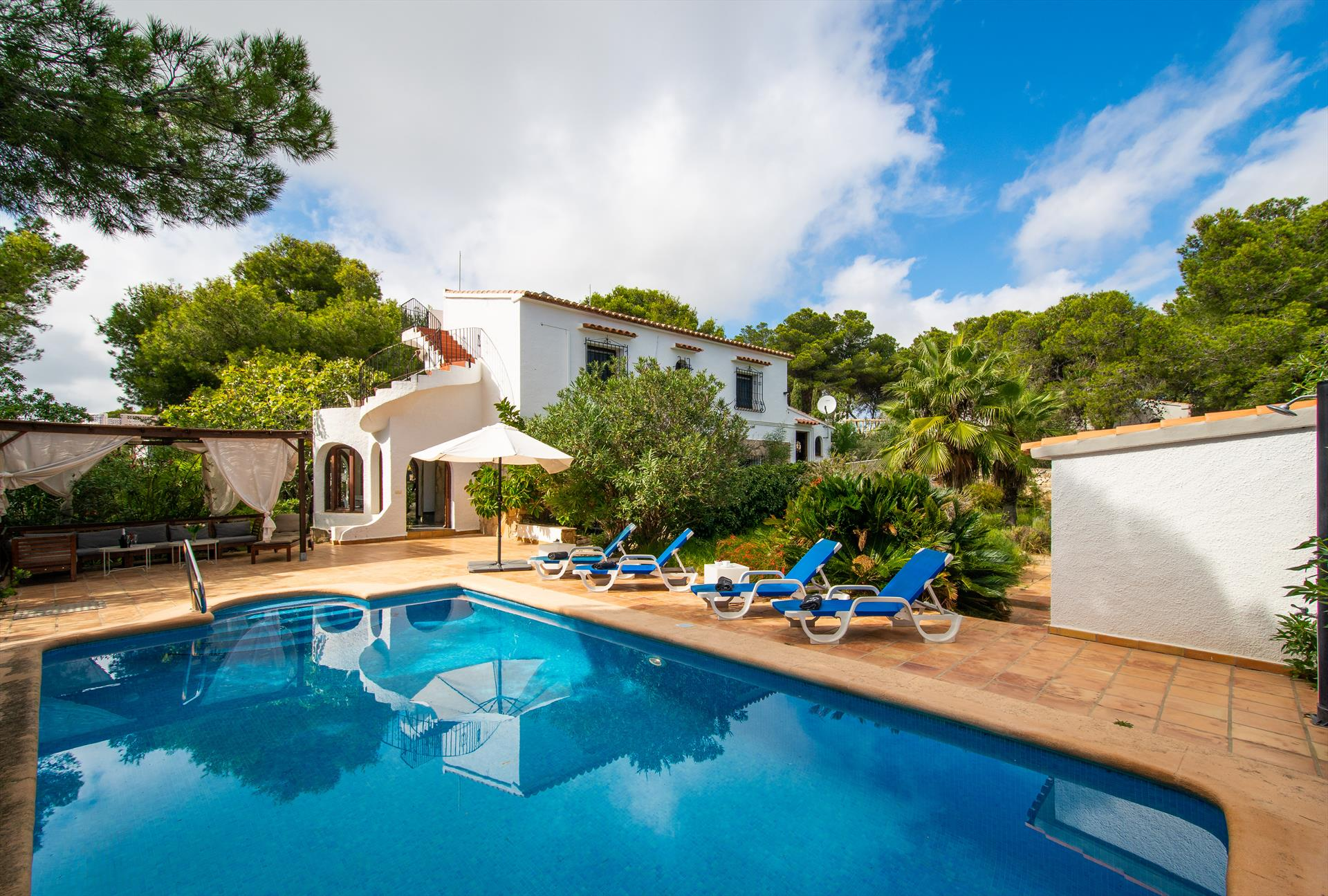 Livia, Beautiful and comfortable villa  with private pool in Javea, on the Costa Blanca, Spain for 8 persons.....