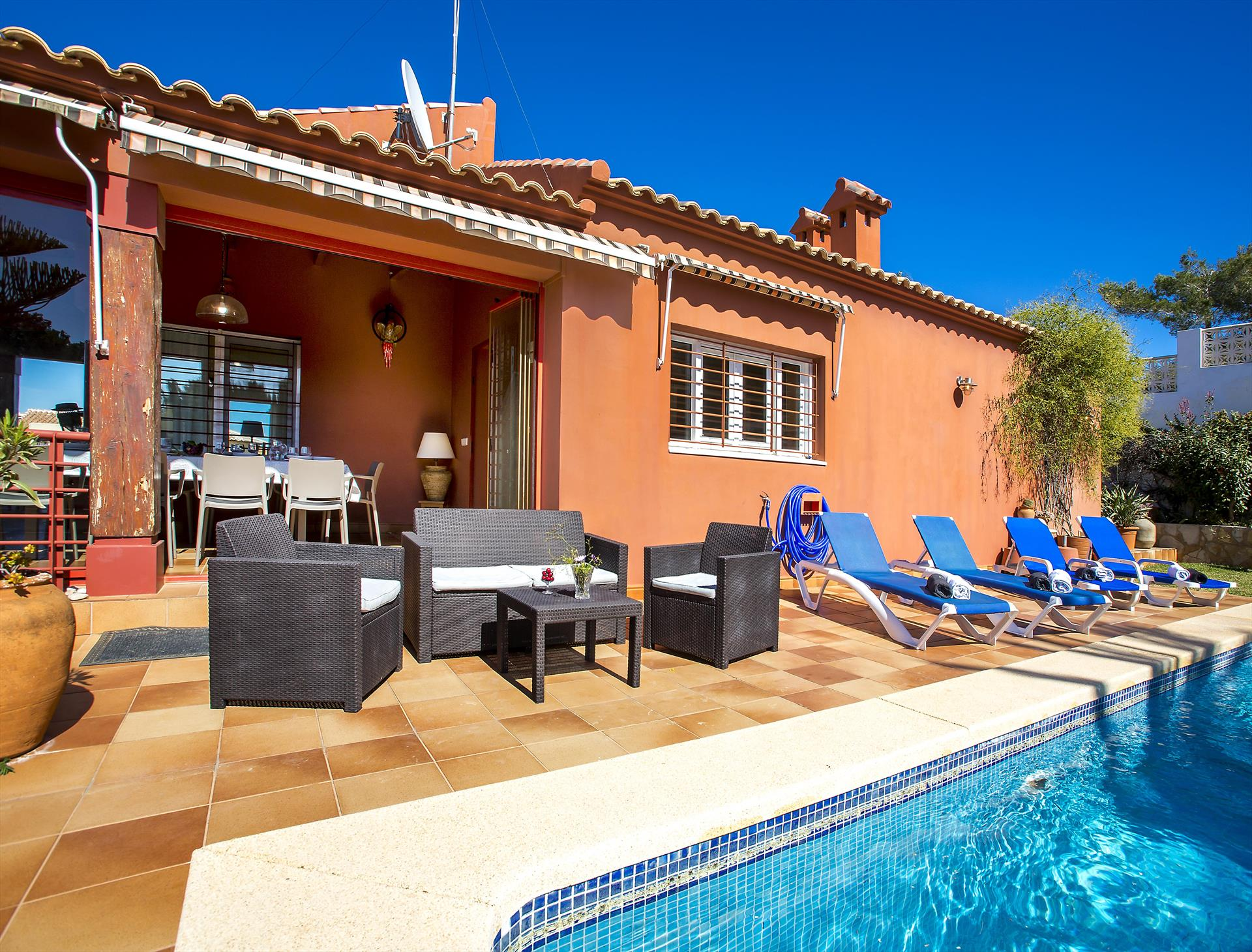 Azahara 8 pax, Wonderful and comfortable villa in Javea, on the Costa Blanca, Spain  with private pool for 8 persons.....