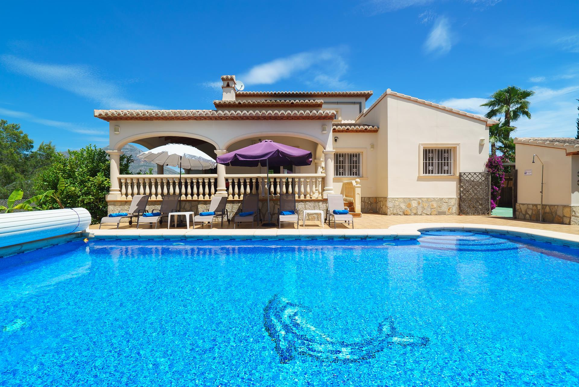 De las Adelfas 4pax, Beautiful and comfortable villa  with private pool in Javea, on the Costa Blanca, Spain for 4 persons.....