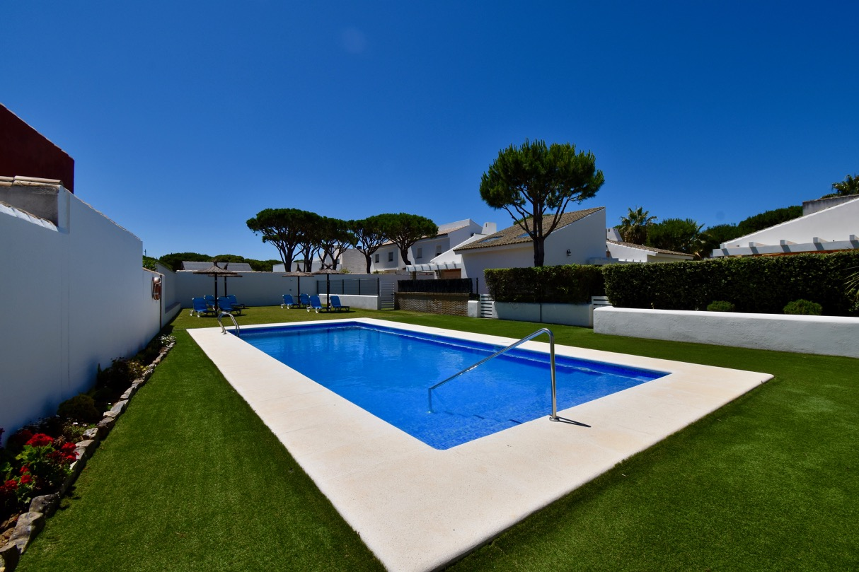 La Barrosa, Villa in Chiclana de la Frontera, Andalusia, Spain  with communal pool for 6 persons.....