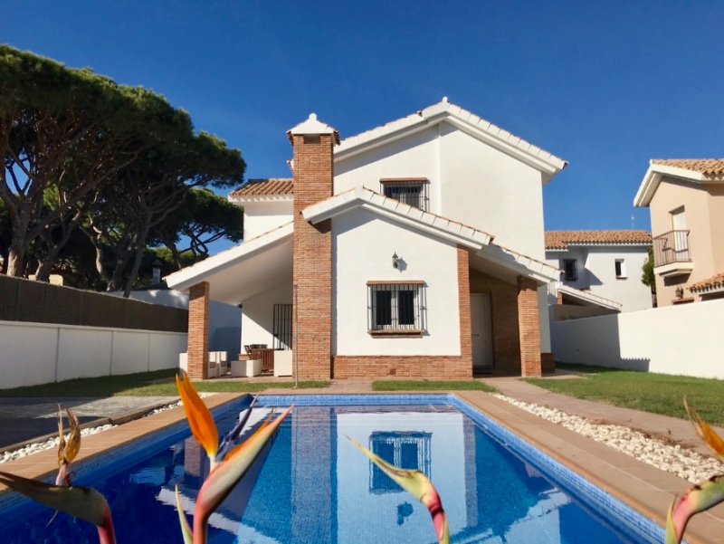 Marina, Villa  with private pool in Chiclana de la Frontera, Andalusia, Spain for 8 persons.....