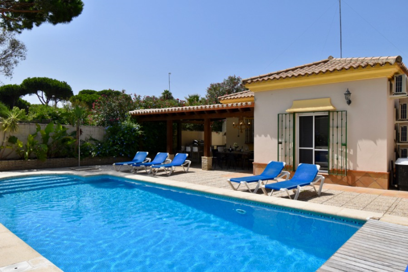 Mochuelo, Villa  with heated pool in Chiclana de la Frontera, Andalusia, Spain for 8 persons.....