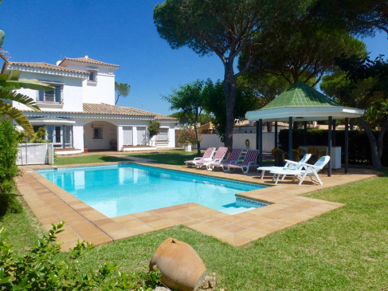 Sol, Villa in Chiclana de la Frontera, Andalusia, Spain  with private pool for 12 persons.....
