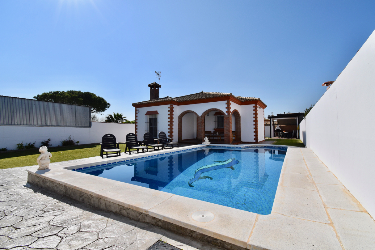 Neyma, Villa  with private pool in Chiclana de la Frontera, Andalusia, Spain for 8 persons.....
