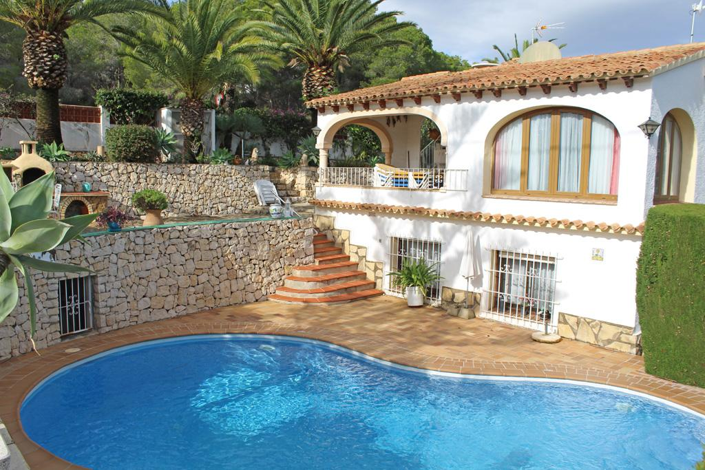 La Chata 4, Classic villa  with private pool in Moraira, on the Costa Blanca, Spain for 4 persons...