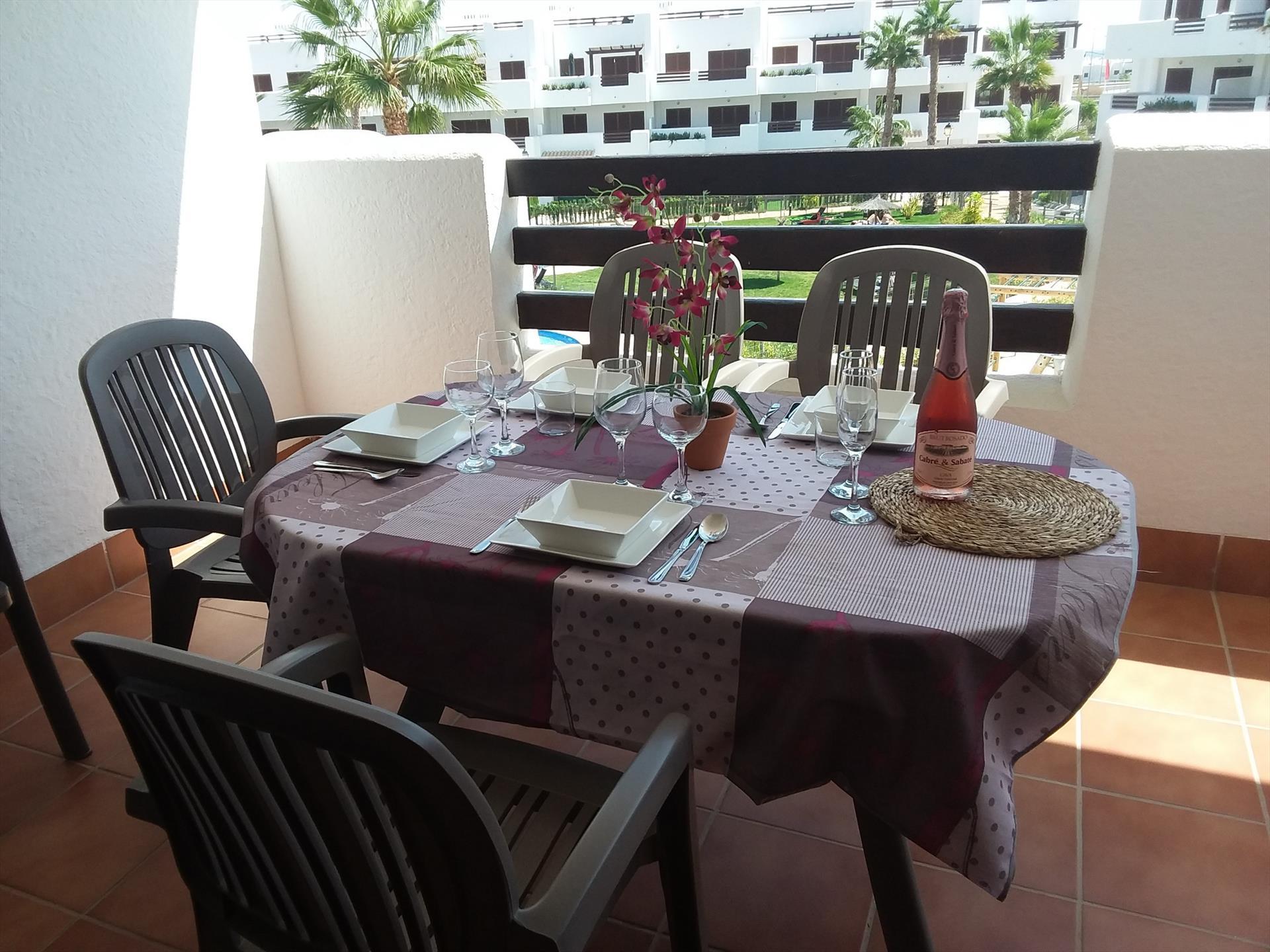 Naranja,Large and nice apartment in San Juan de los Terreros, Andalusia, Spain  with communal pool for 6 persons.....