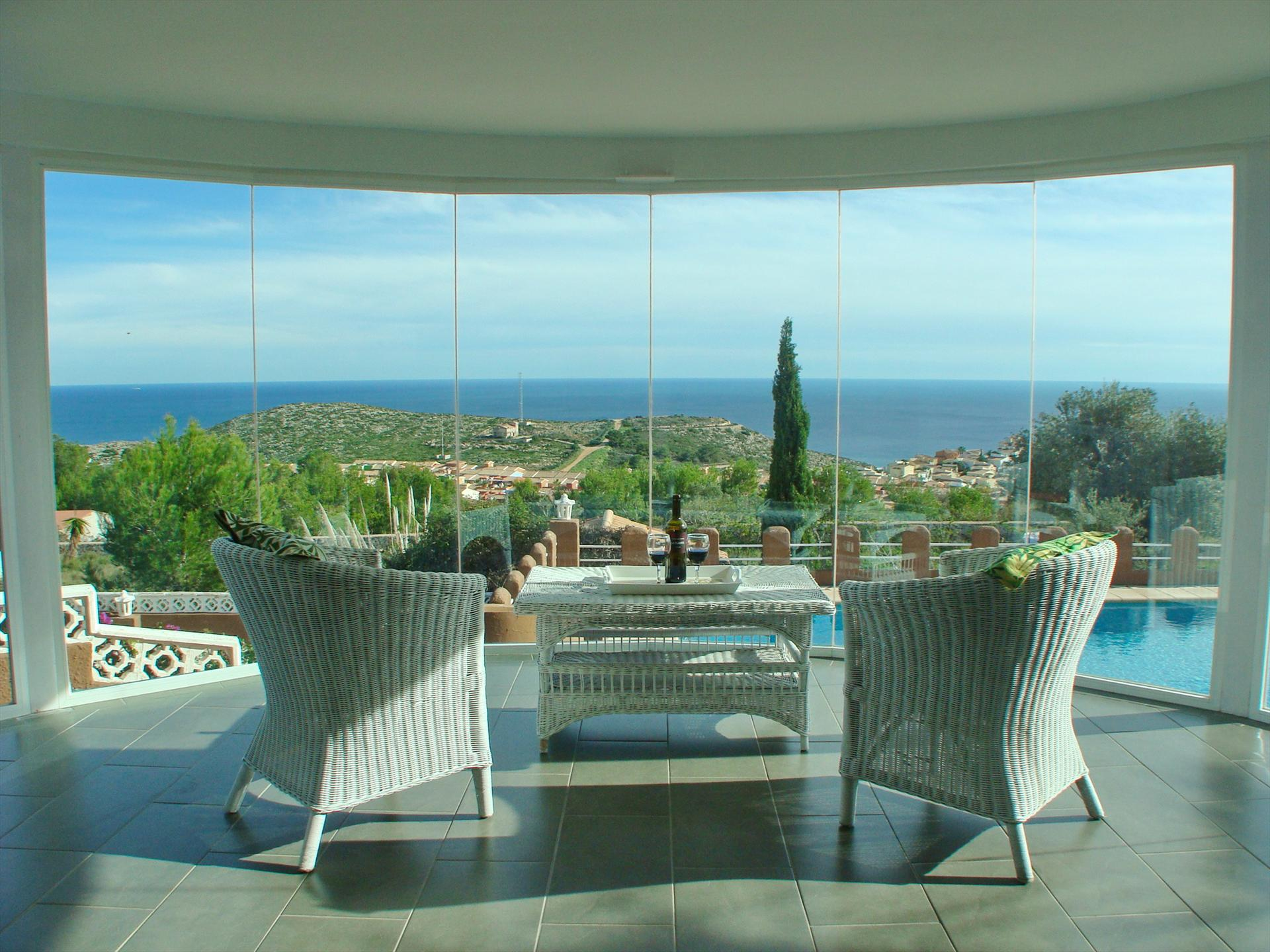 Villa Carisma Cumbre del Sol,Beautiful and comfortable villa  with private pool in Benitachell, on the Costa Blanca, Spain for 6 persons.....