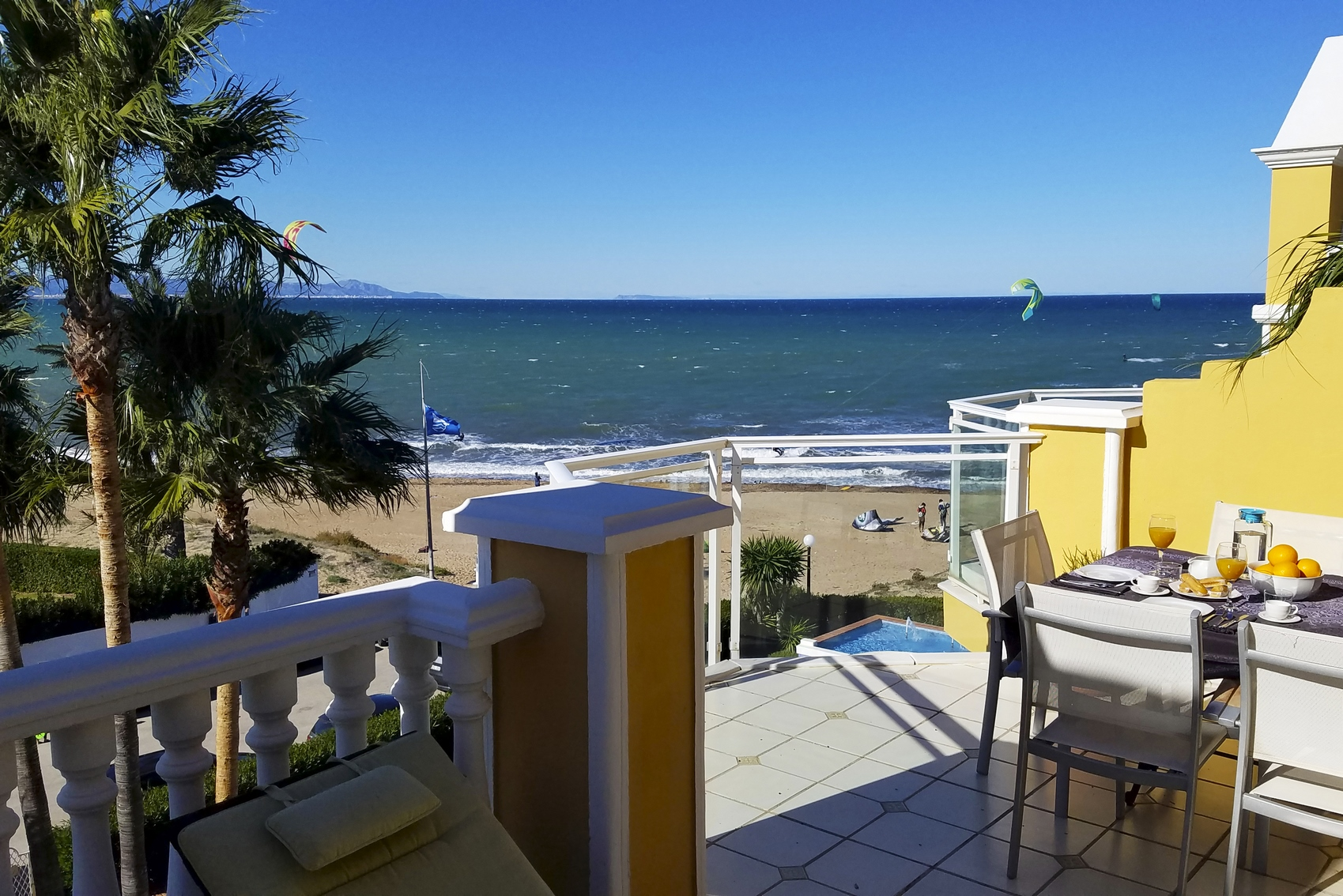AT4401 Atico Bahia Azul Les Marines, Lovely and comfortable holiday house in Denia, on the Costa Blanca, Spain  with communal pool for 10 persons.....