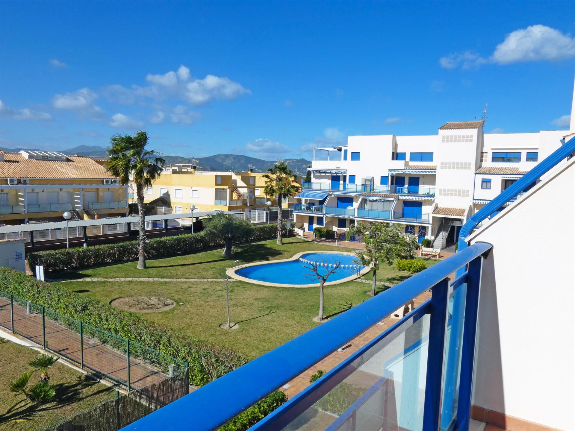AP305 Benifla Playa Rabdells, Classic and nice apartment in Oliva, on the Costa Blanca, Spain  with communal pool for 4 persons.....