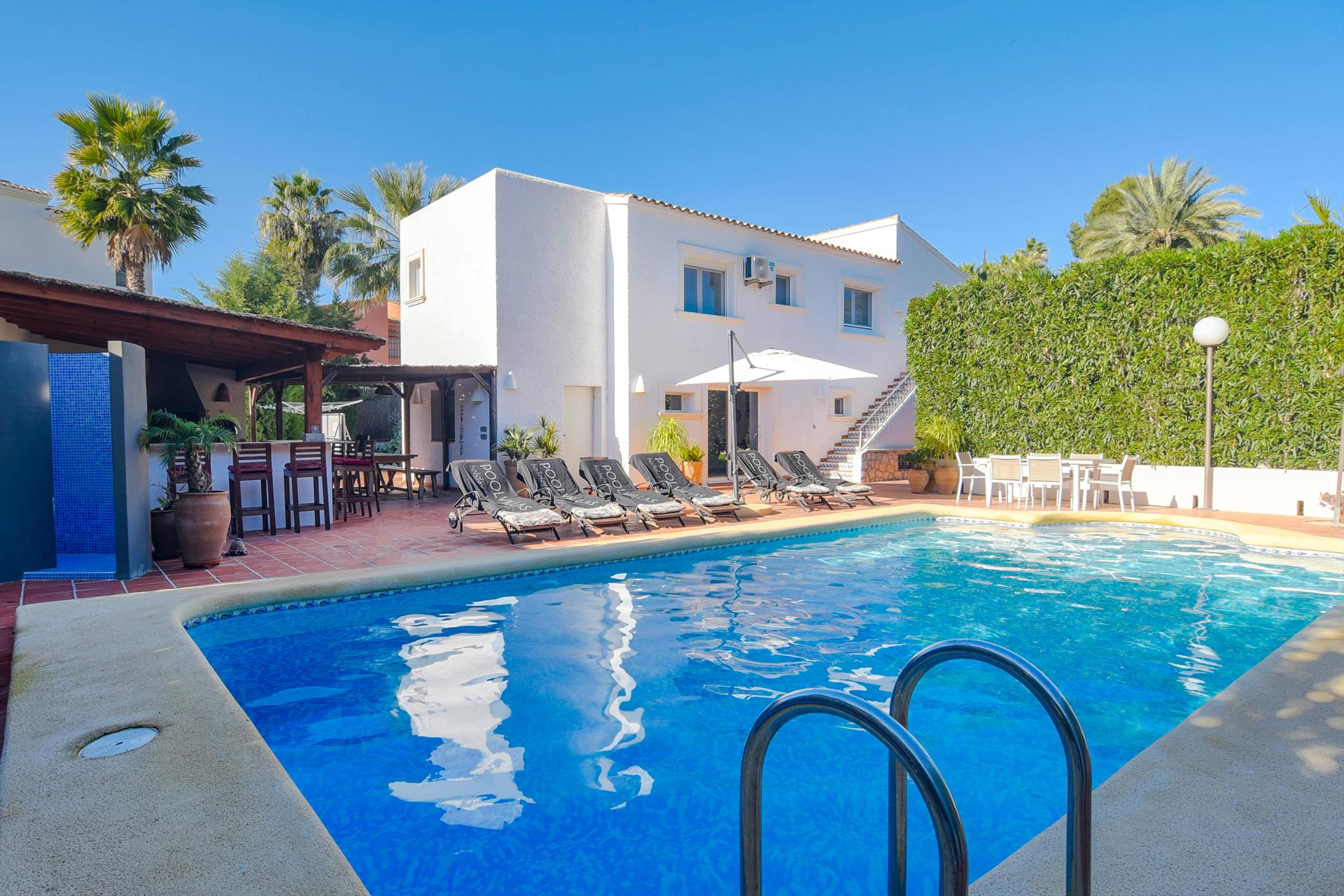 Andrago, Large and comfortable villa  with heated pool in Moraira, on the Costa Blanca, Spain for 12 persons.....