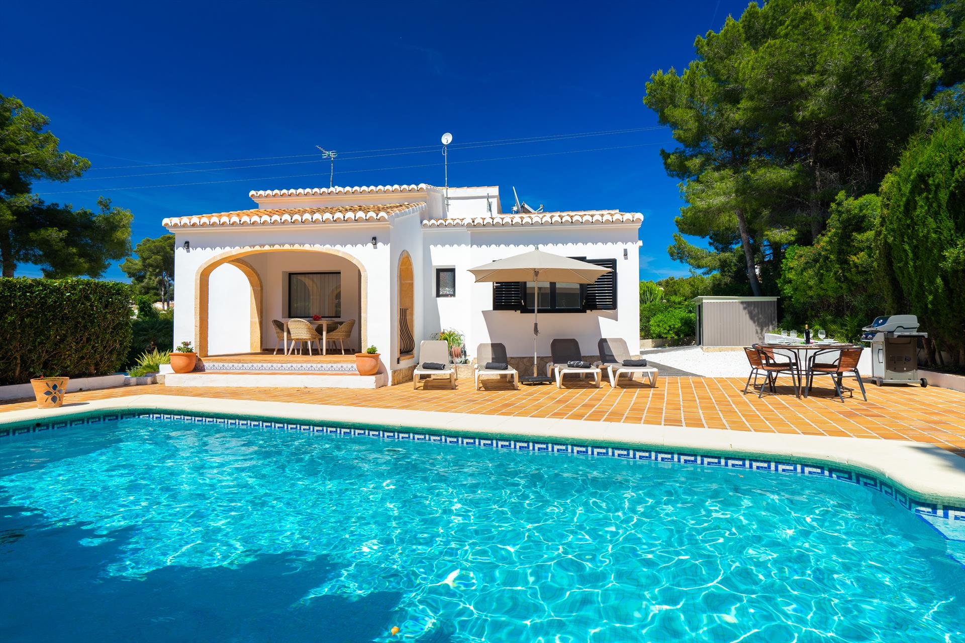 Josefine 4 pax, Beautiful and comfortable holiday home  with private pool in Javea, on the Costa Blanca, Spain for 4 persons...
