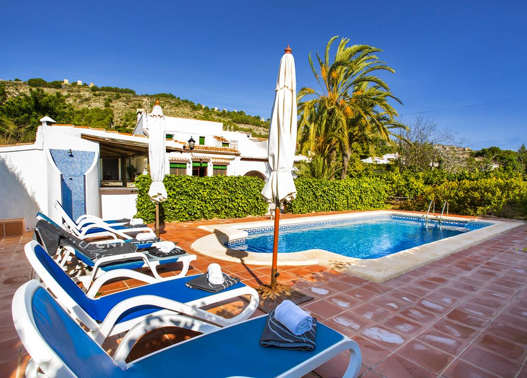 La Caseta 8 pax, Classic and comfortable holiday home  with private pool in Javea, on the Costa Blanca, Spain for 8 persons...