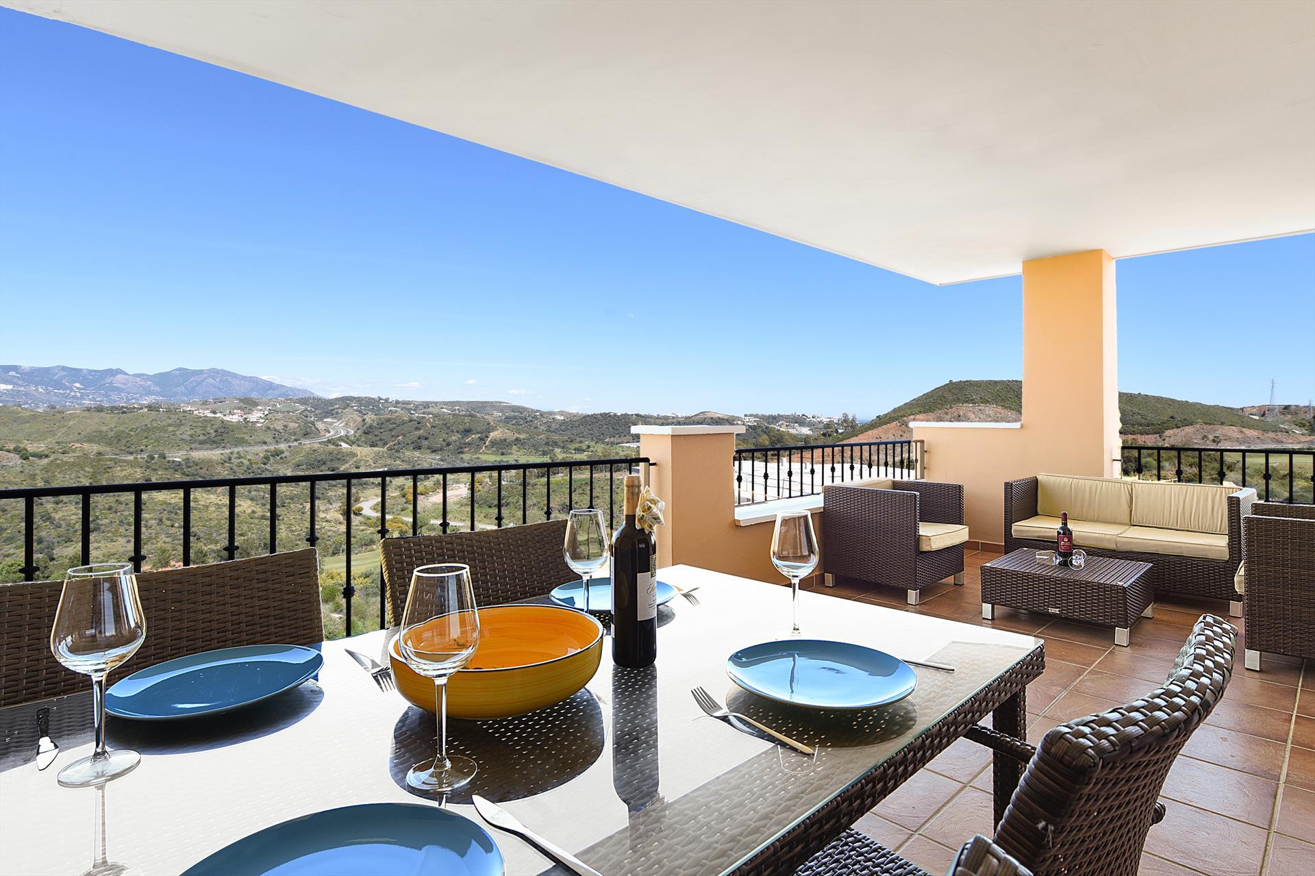 Hercesa Calanova,Mooi en comfortabel appartement in Mijas costa, Andalusië, Spanje  met gemeenschappelijk zwembad voor 4 personen.....