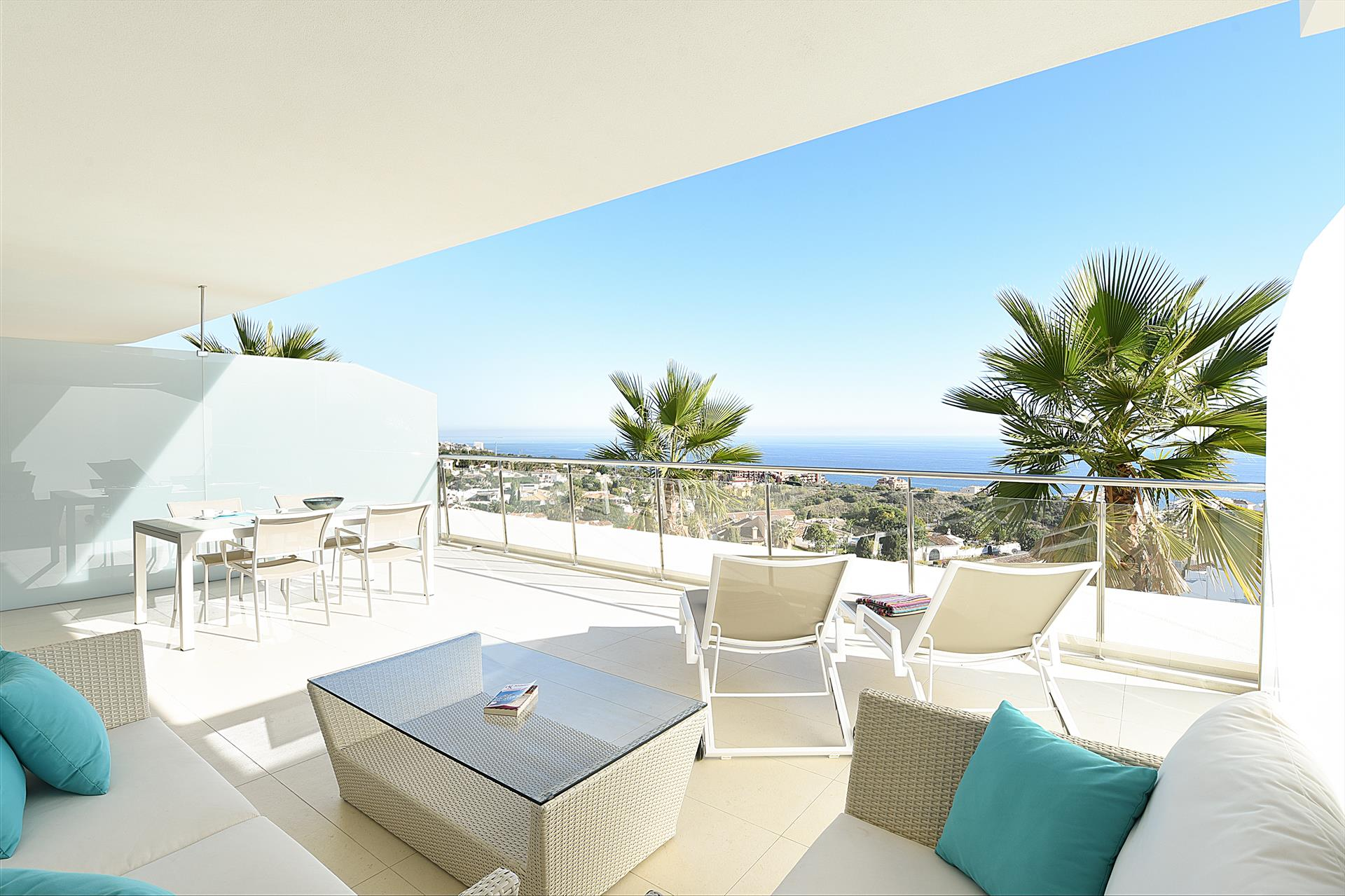 The Hill Collection, Beautiful and luxury apartment in Fuengirola, Andalusia, Spain  with communal pool for 4 persons.....