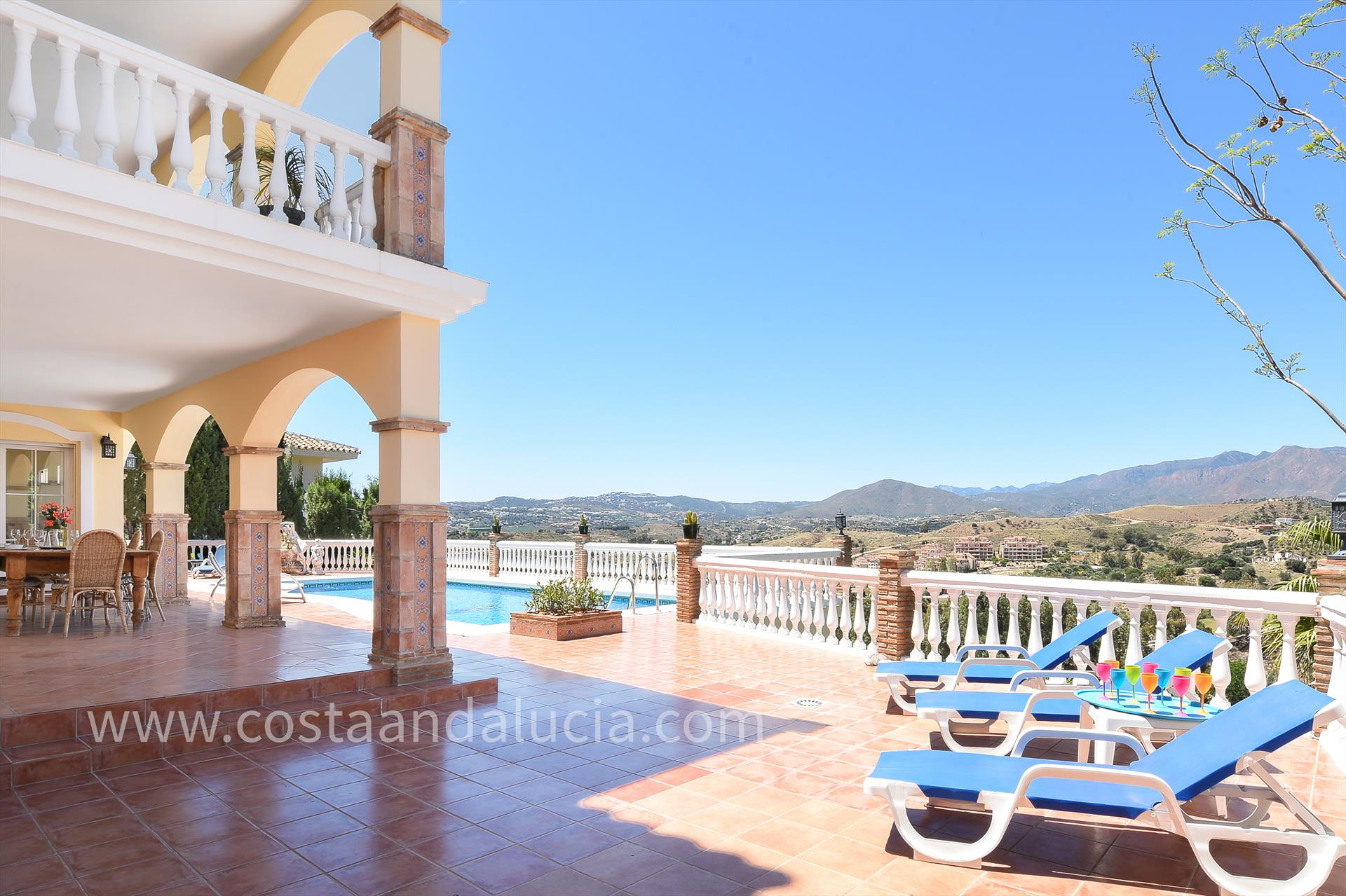 Casa Carlos, Large and luxury villa  with private pool in Mijas costa, Andalusia, Spain for 8 persons.....