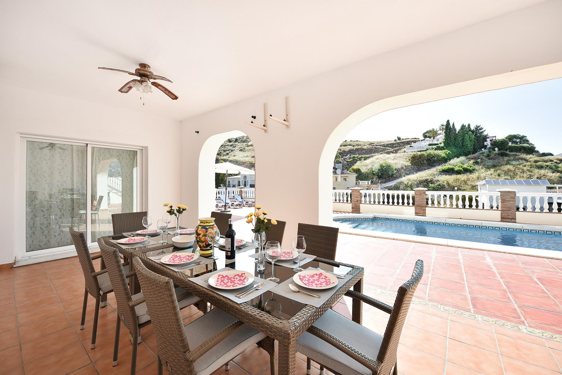Casa Cerros, Large and comfortable villa  with private pool in Mijas costa, Andalusia, Spain for 10 persons.....