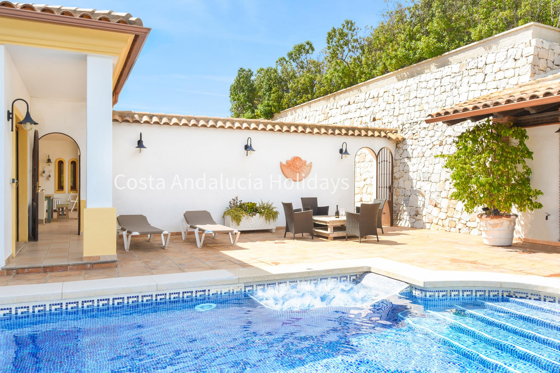 Casa Kopita, Large and  luxury villa  with heated pool in Mijas, Andalusia, Spain for 8 persons.....