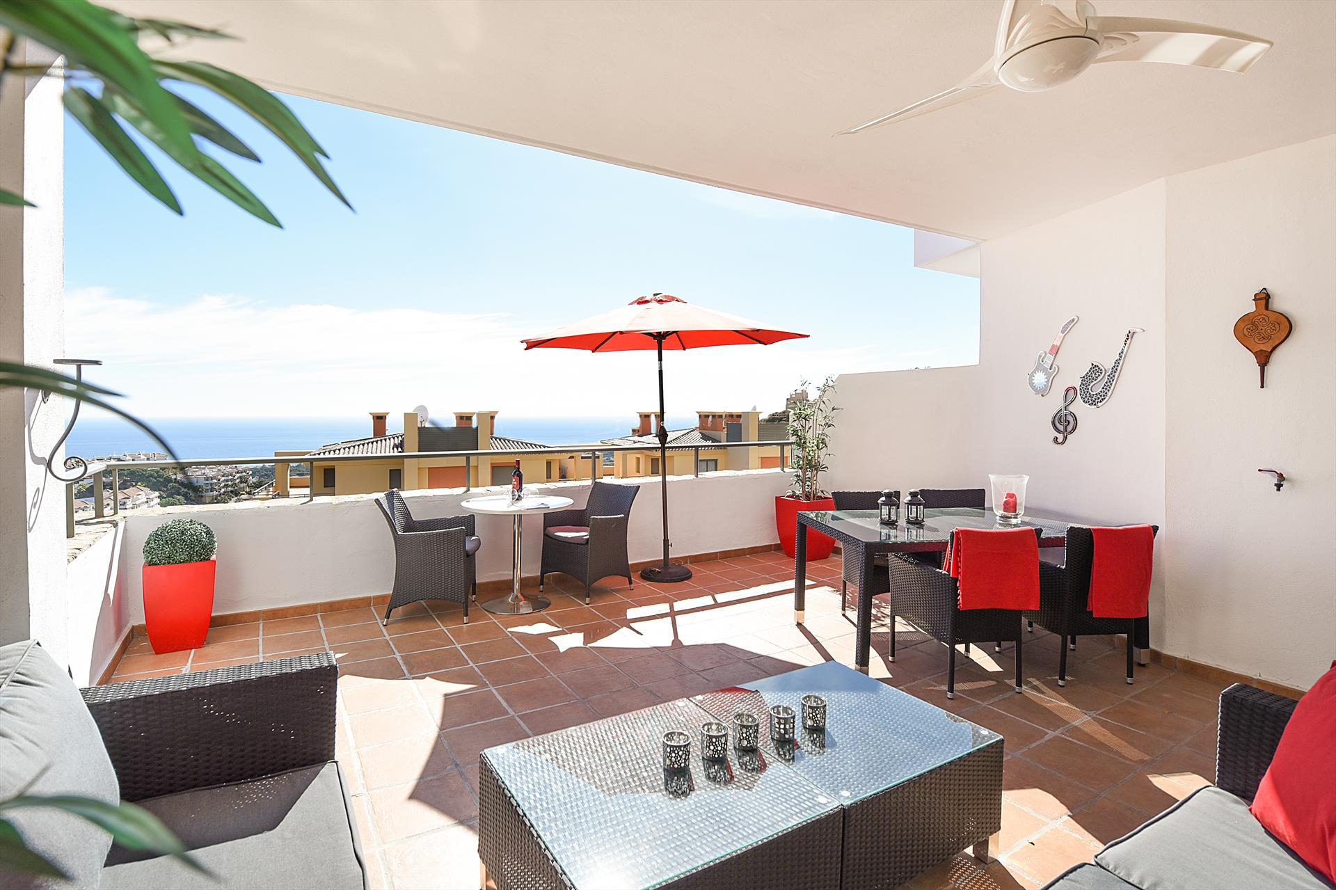 Campos del mar 501, Beautiful and romantic apartment in Mijas costa, Andalusia, Spain  with communal pool for 6 persons.....