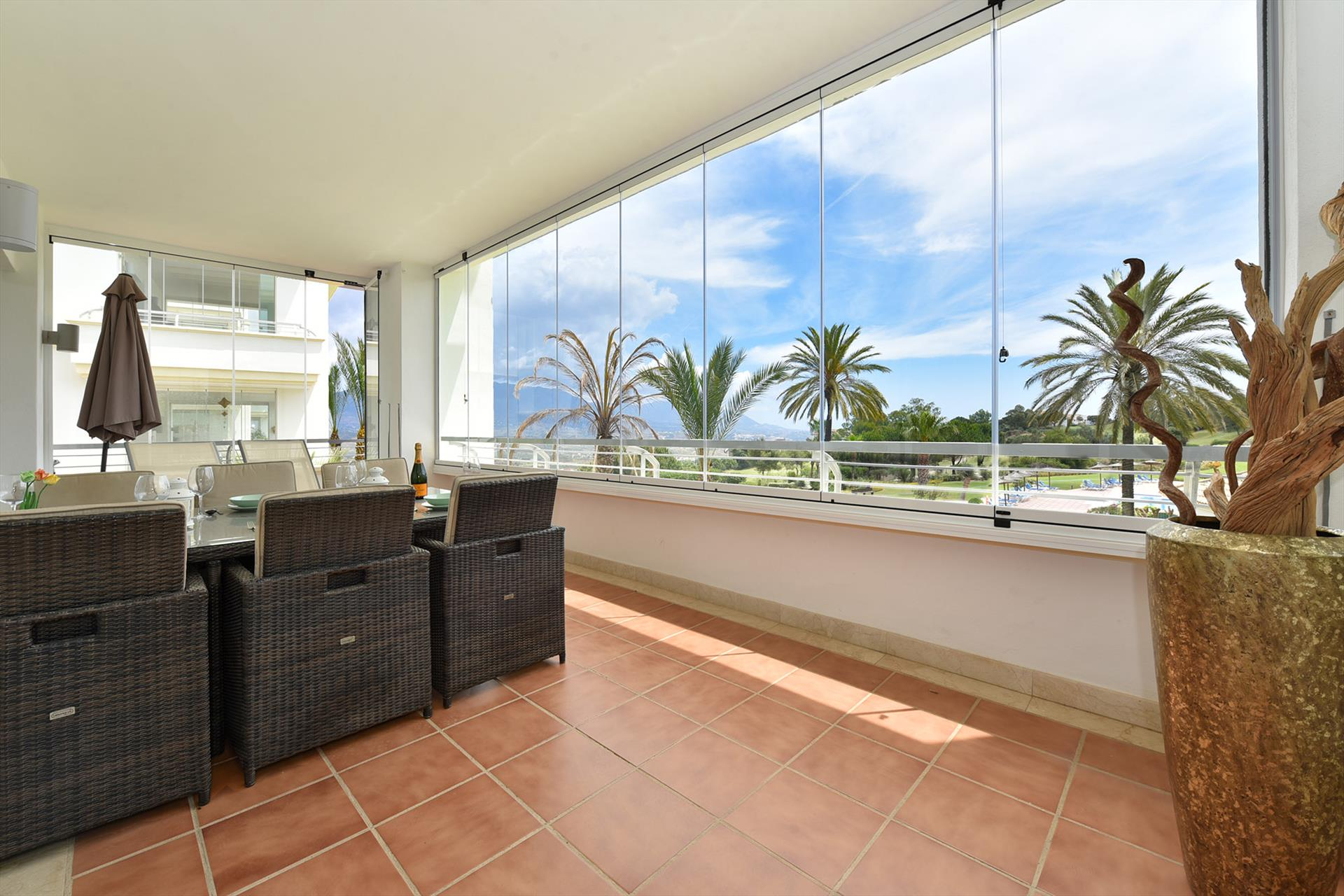 Real Altavista, Wonderful and luxury apartment  with communal pool in Mijas costa, Andalusia, Spain for 6 persons.....