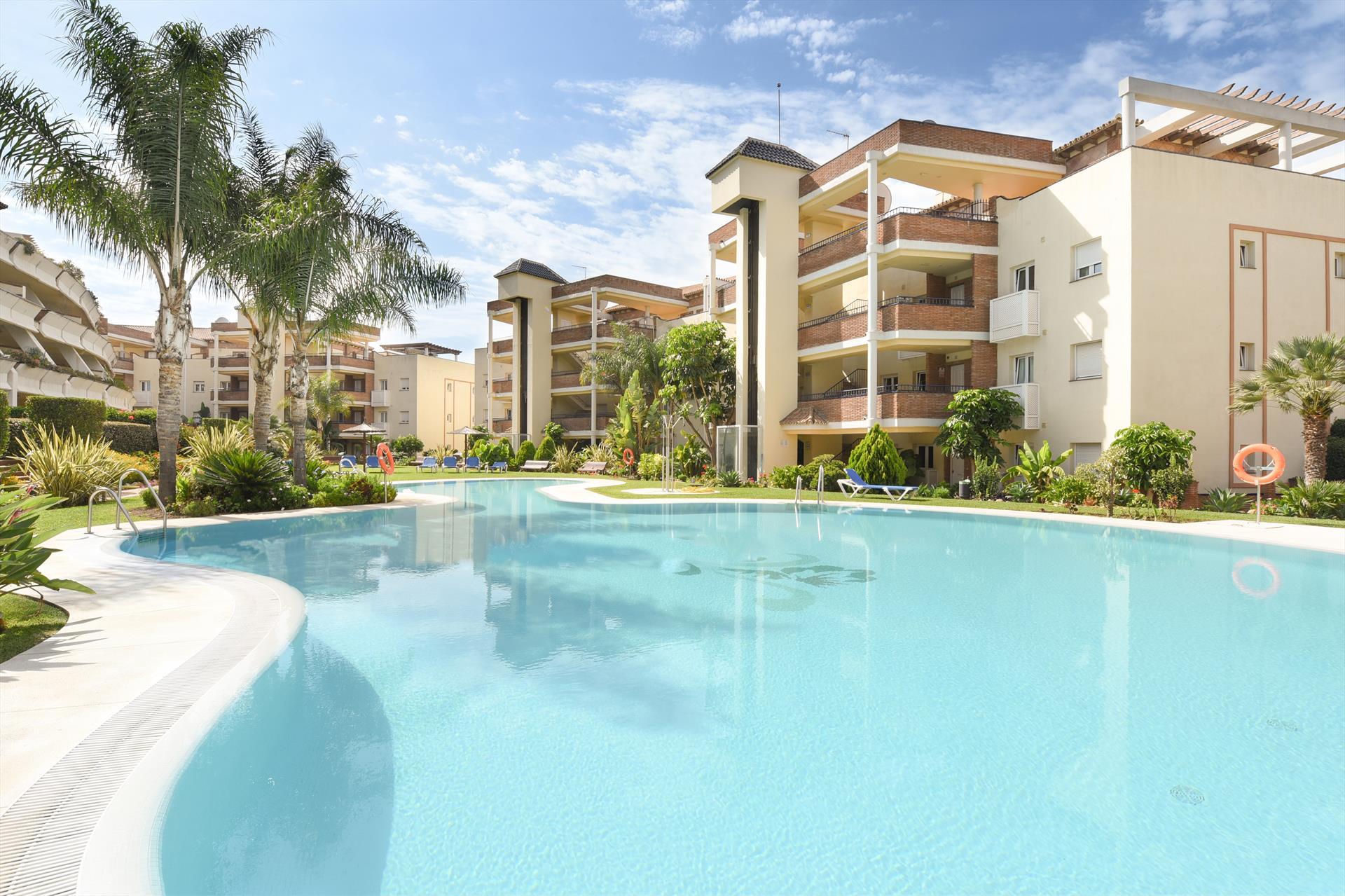 Green Hills,Modern en comfortabel appartement in Mijas costa, Andalusië, Spanje  met gemeenschappelijk zwembad voor 4 personen.....