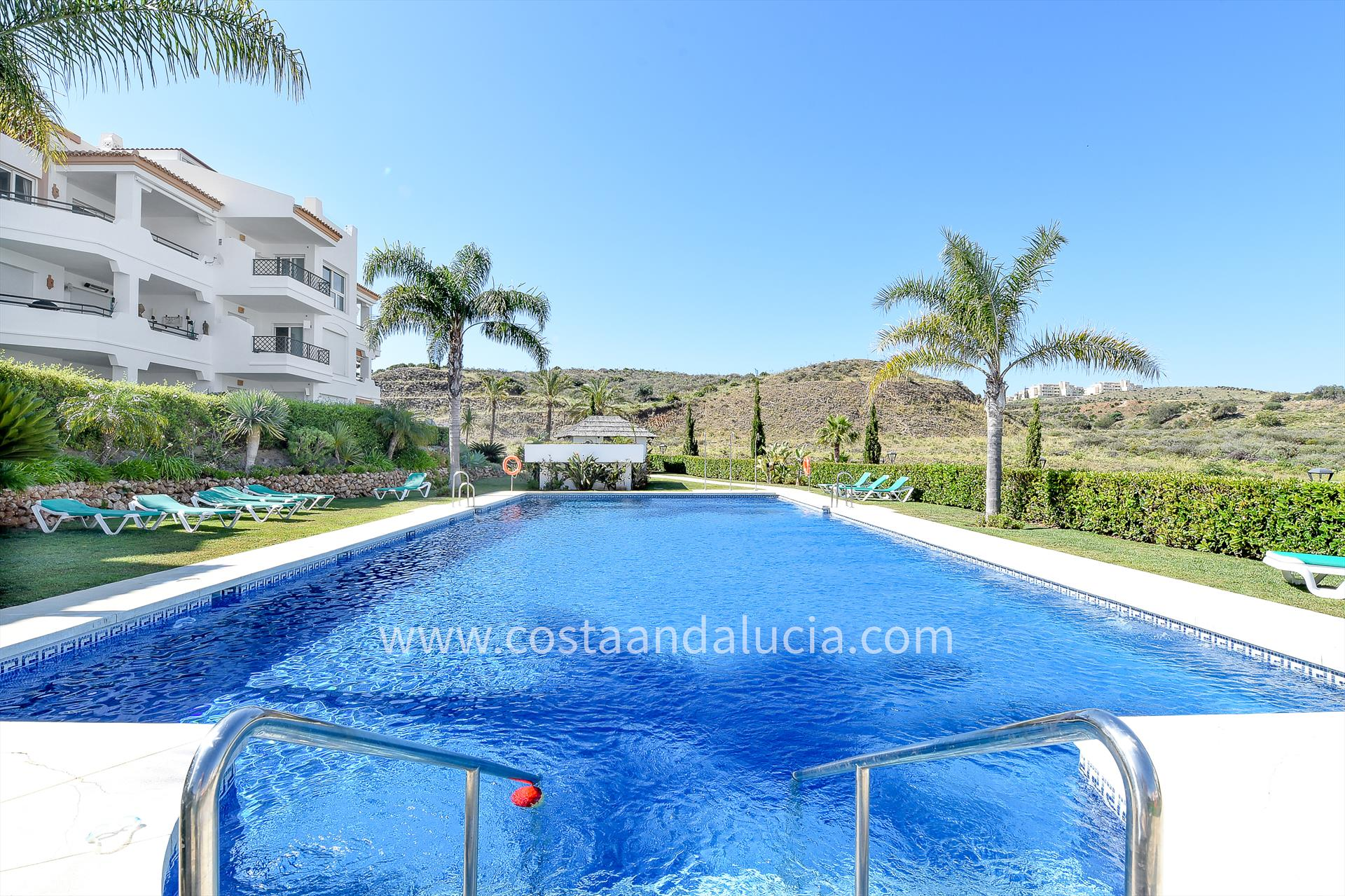 Los Iris, Modern and comfortable apartment  with communal pool in Mijas costa, Andalusia, Spain for 6 persons.....