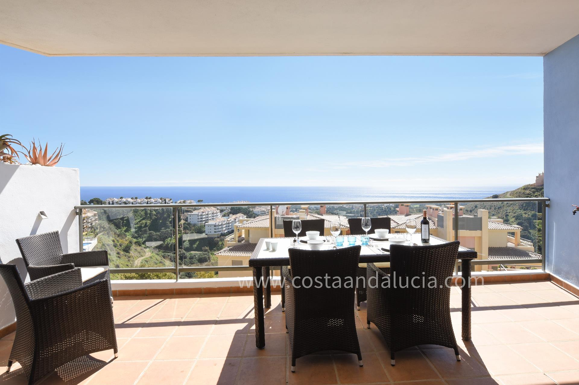 Campos del Mar 476, Wonderful and comfortable apartment  with communal pool in Mijas costa, Andalusia, Spain for 4 persons.....