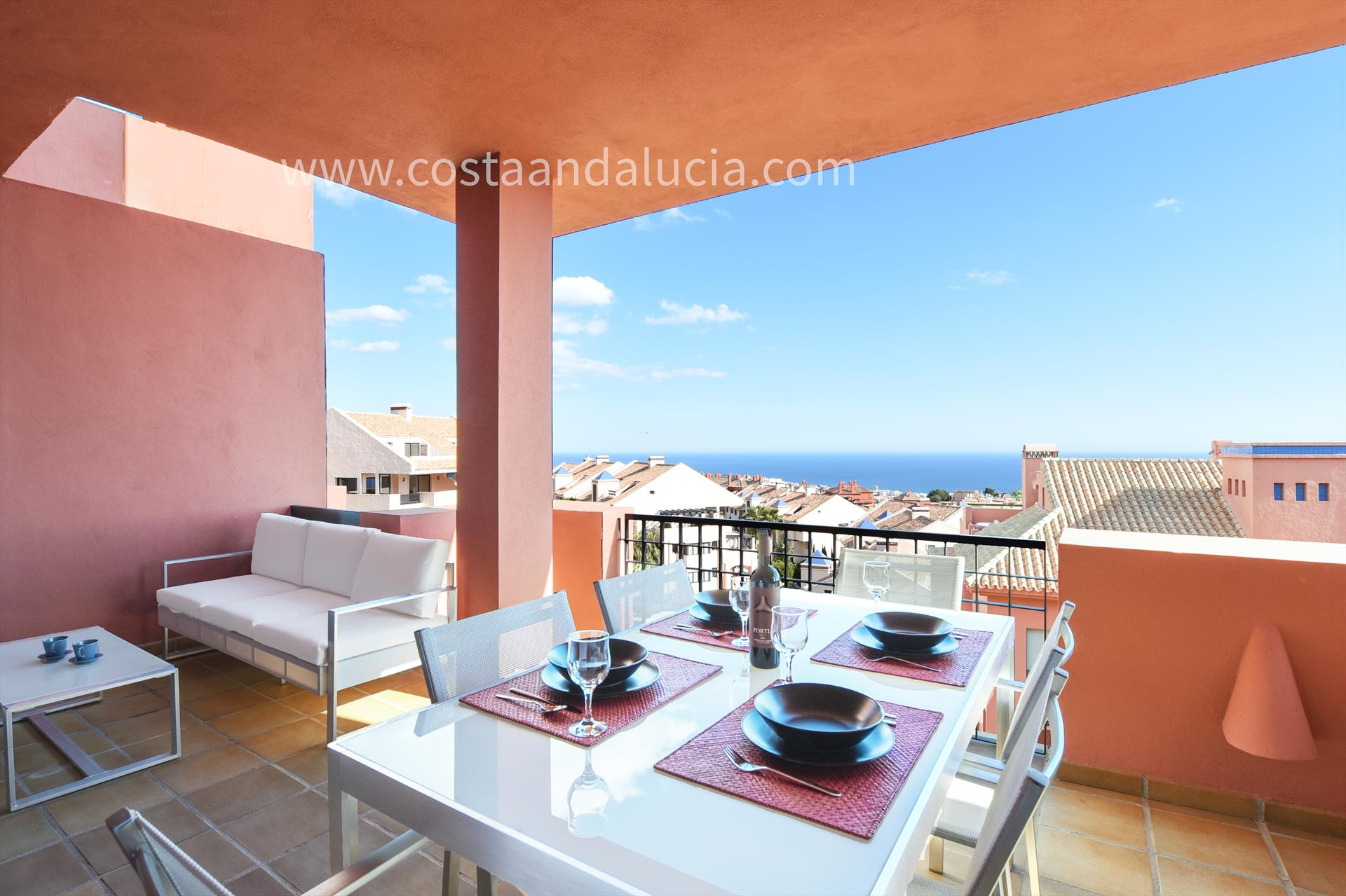Cascadas las Lomas, Modern and comfortable apartment in Mijas costa, Andalusia, Spain  with communal pool for 4 persons.....