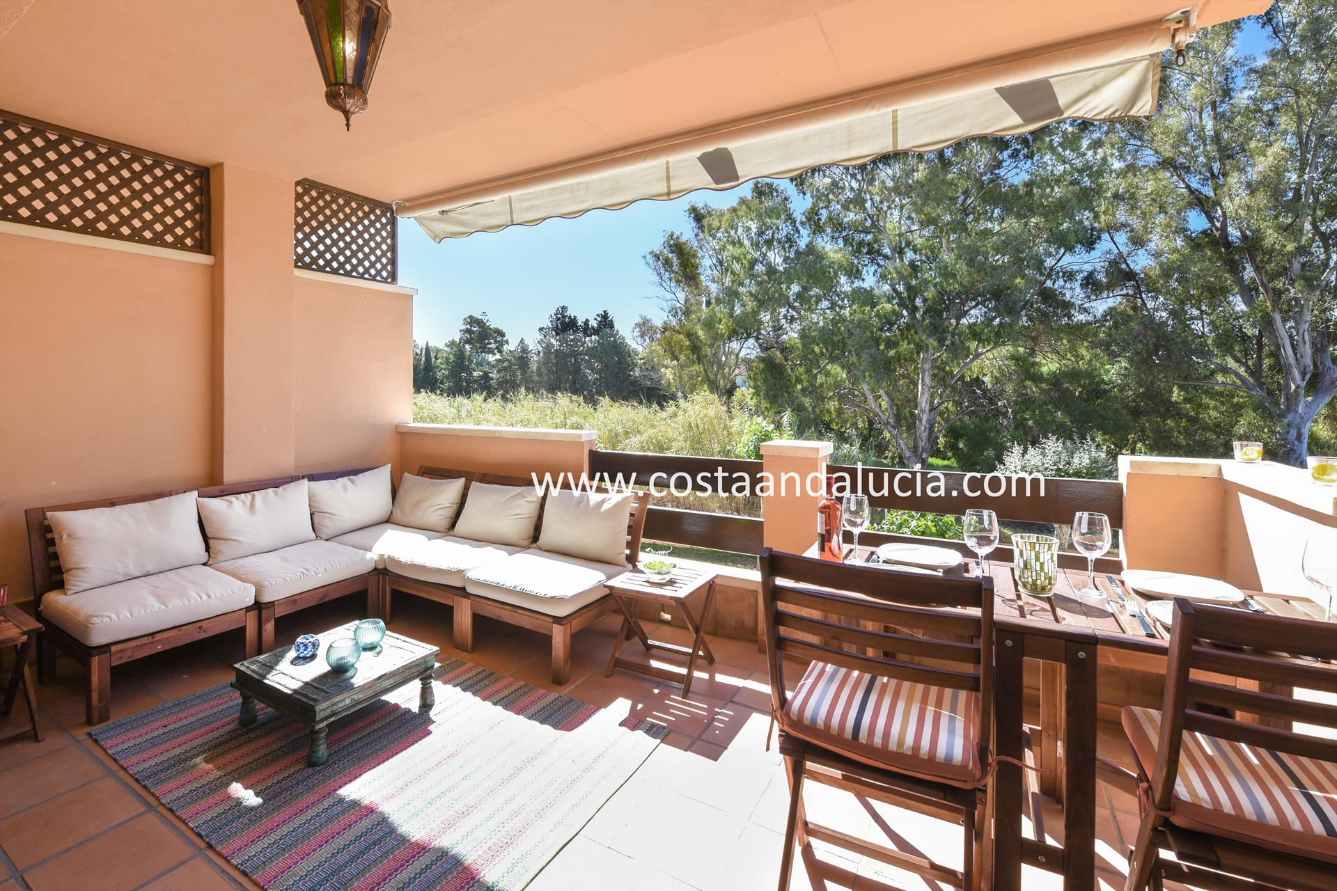 Las Dunas, Beautiful and comfortable apartment  with communal pool in Marbella, Andalusia, Spain for 6 persons.....