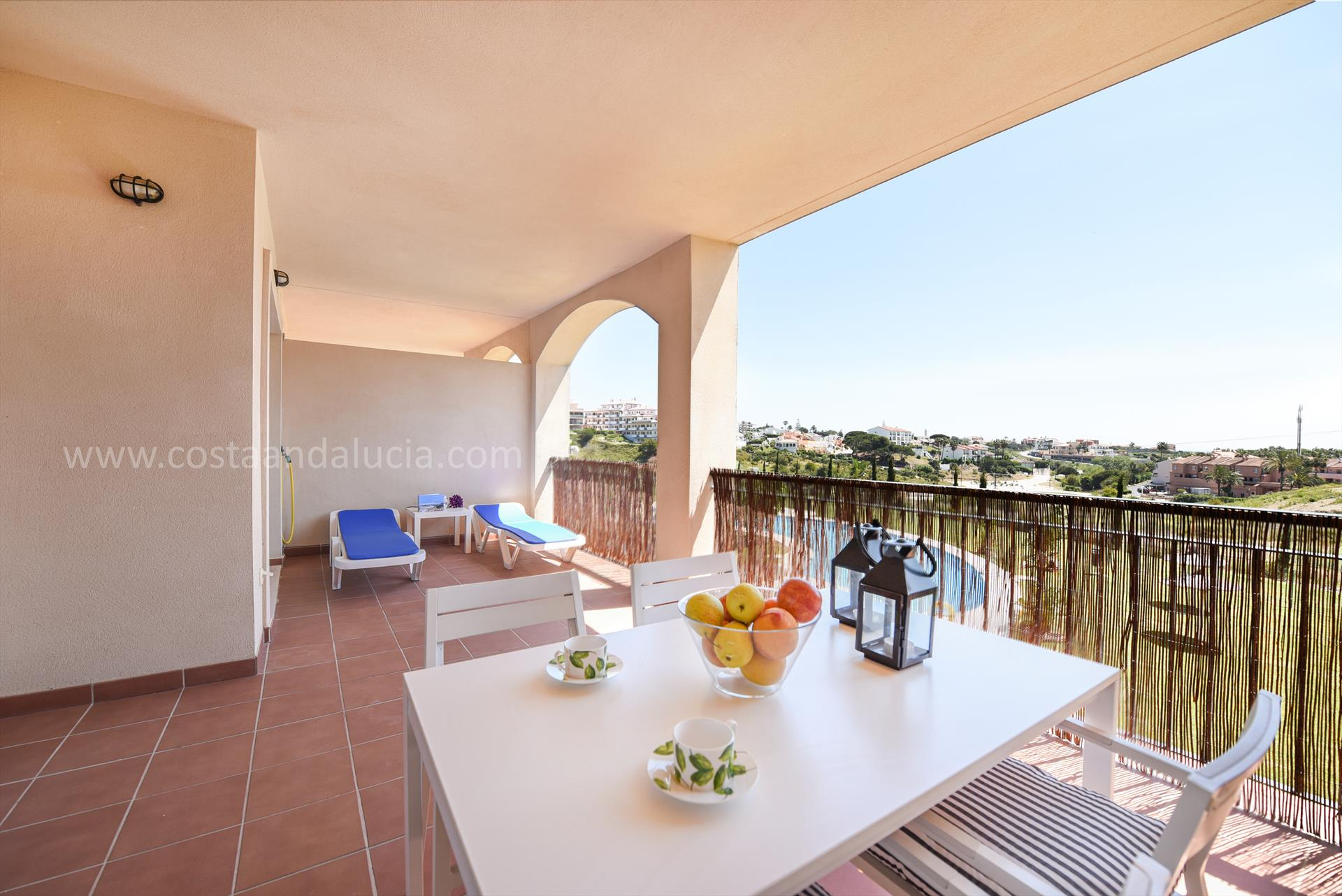 Pinares, Modern and comfortable apartment  with communal pool in Mijas costa, Andalusia, Spain for 4 persons.....