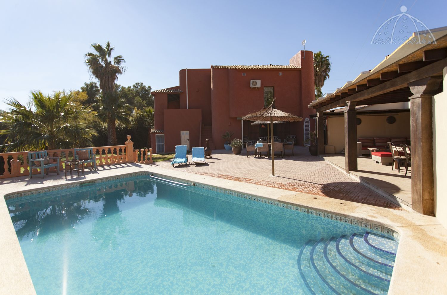 Jewel, Rustic and comfortable villa  with private pool in Altea, on the Costa Blanca, Spain for 6 persons.....