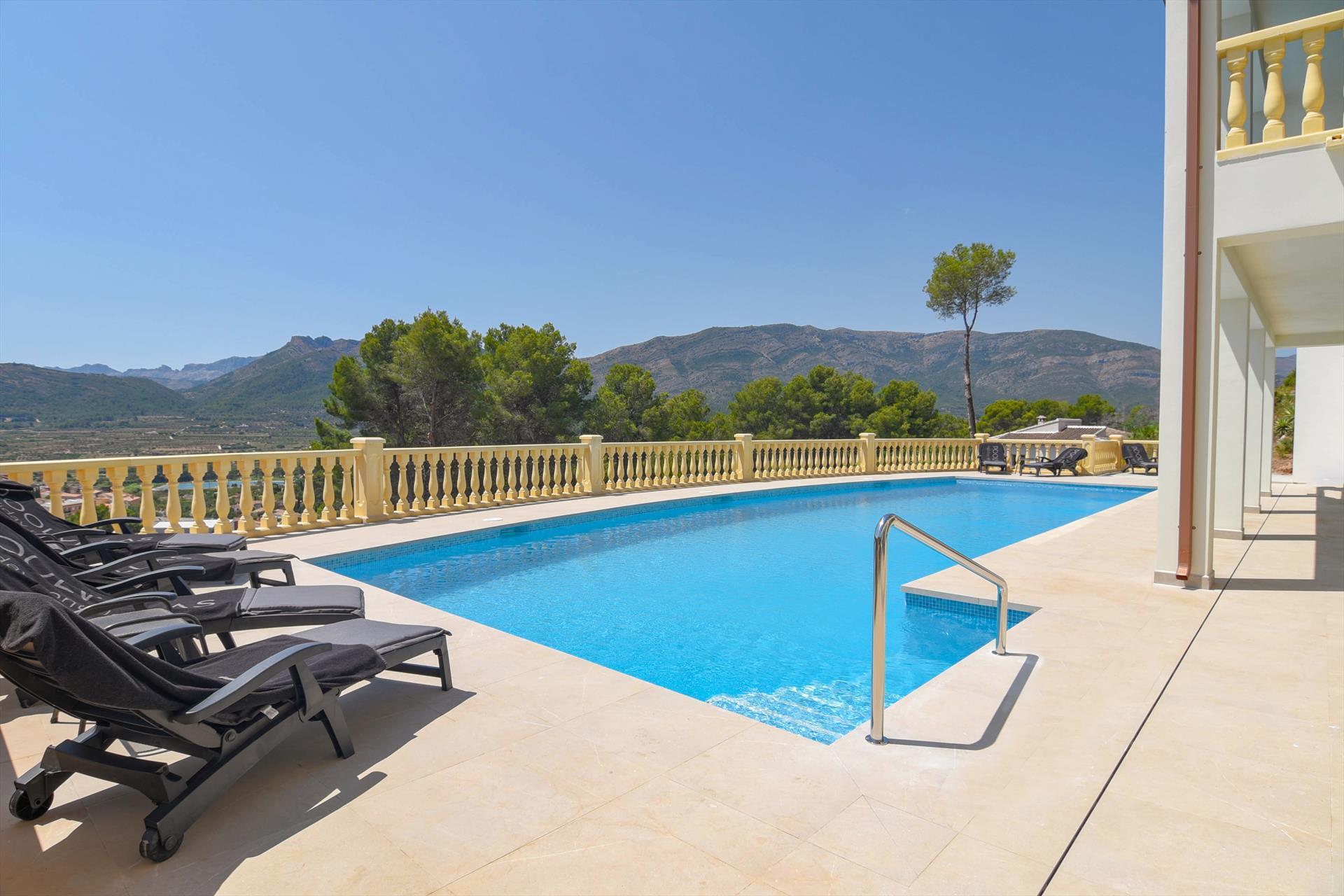 Mimosa,Villa de luxe merveilleuse à Alcalali, sur la Costa Blanca, Espagne  avec piscine privée pour 12 personnes...