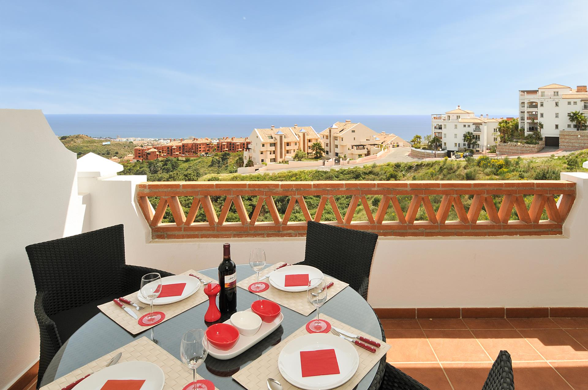 Las Palmeras 309, Modern and comfortable apartment  with communal pool in Mijas costa, Andalusia, Spain for 4 persons.....