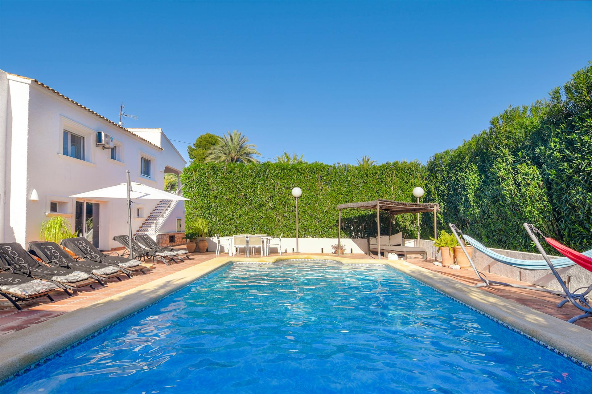 Andrago 10, Large and comfortable villa  with heated pool in Moraira, on the Costa Blanca, Spain for 10 persons.....