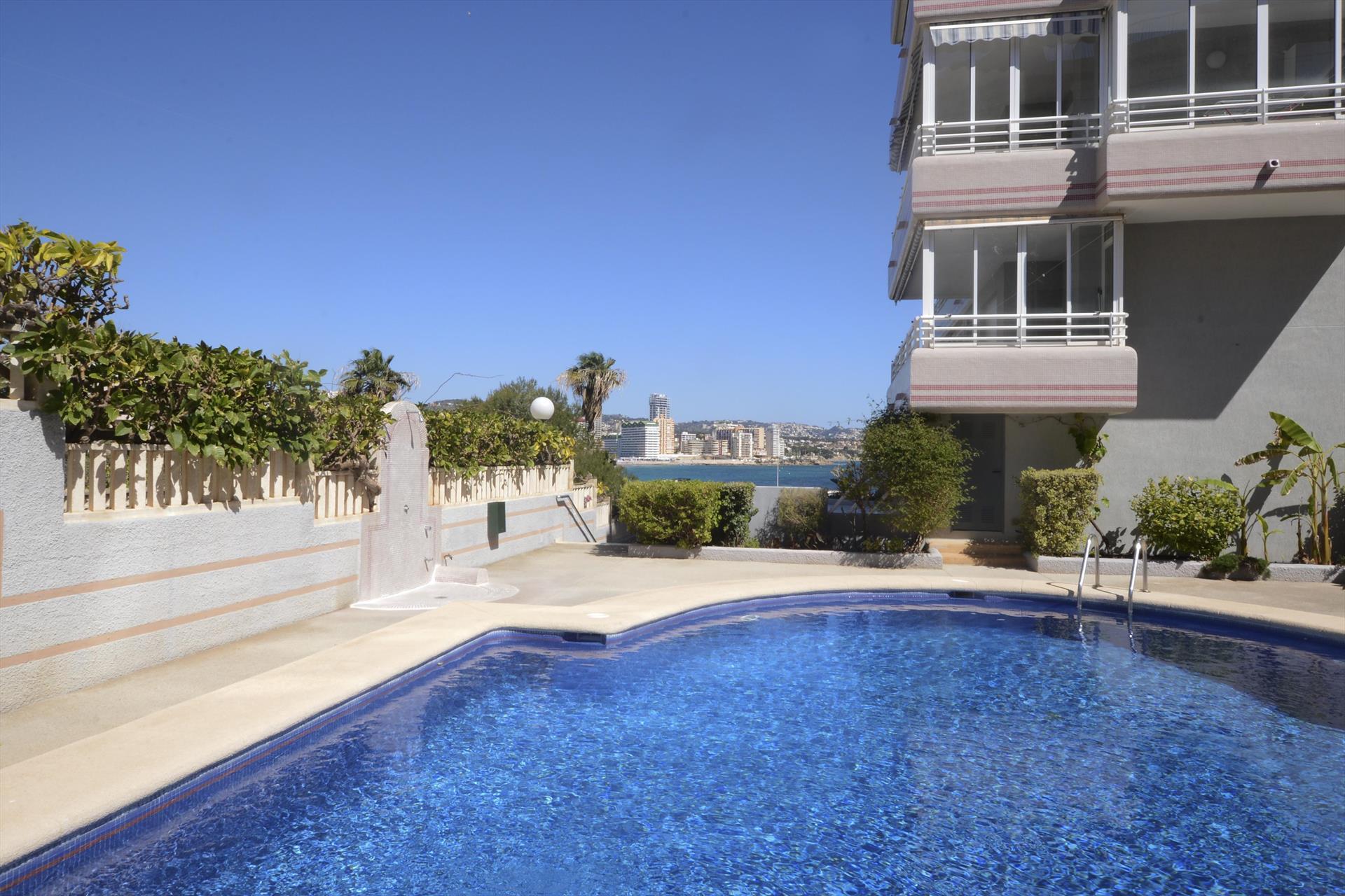 Apartamento Bahia Mar 3A,Апартамент  с общим бассейном  на 6 человек в Кальпе, нa Коста Бланкe, в Испании.....