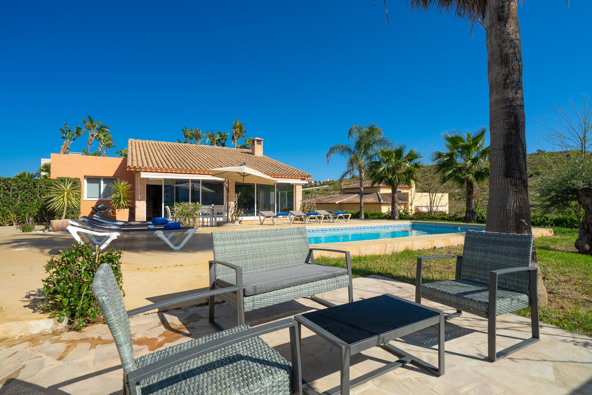 Ariel 8 pax, Large and comfortable villa  with private pool in Javea, on the Costa Blanca, Spain for 8 persons...