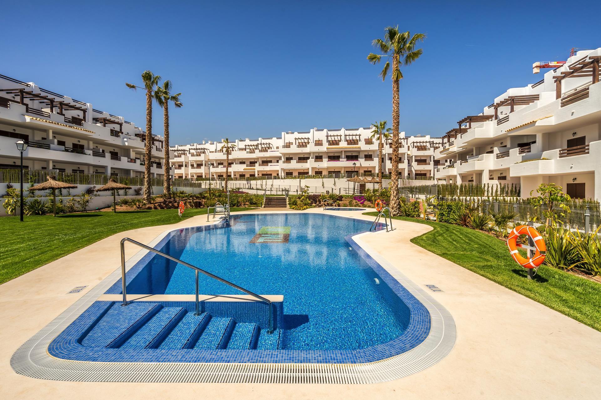 Oregano,Beautiful apartment in San Juan de los Terreros, Andalusia, Spain  with communal pool for 6 persons.....