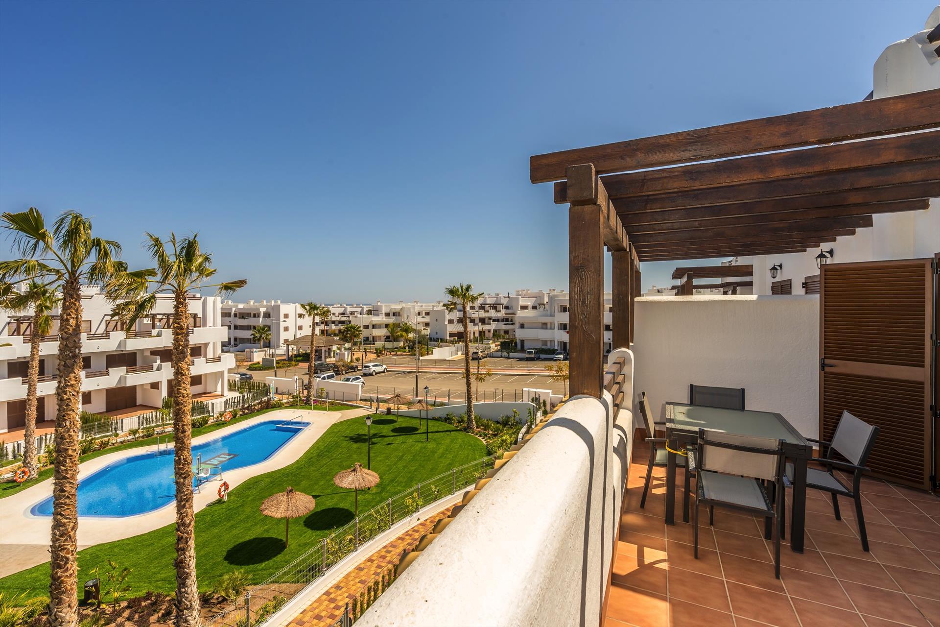 Pimienta,Beautiful apartment  with communal pool in San Juan de los Terreros, Andalusia, Spain for 4 persons.....